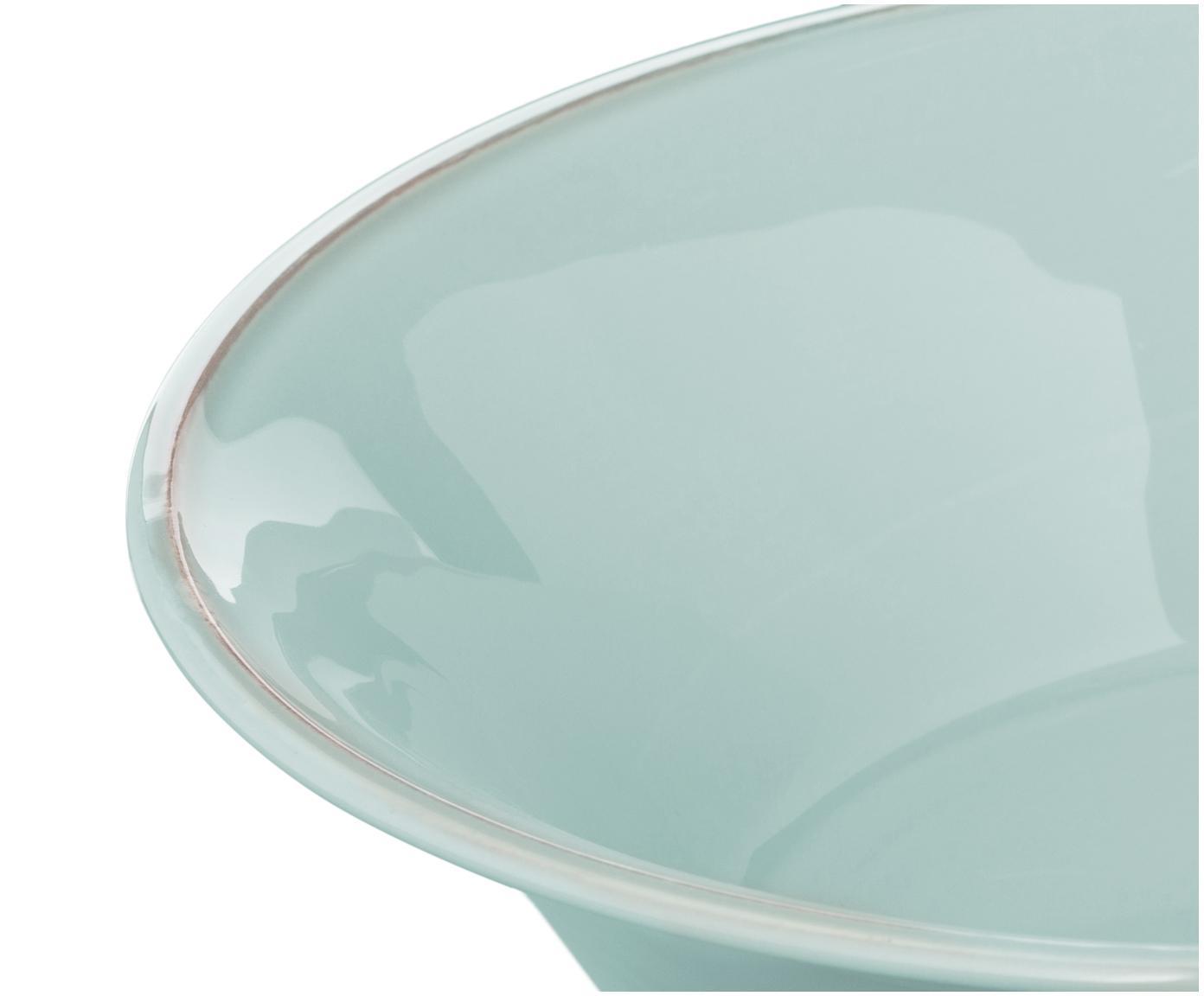 Salatschüssel Constance in Mint, Steingut, Mint, Ø 30 x H 9 cm