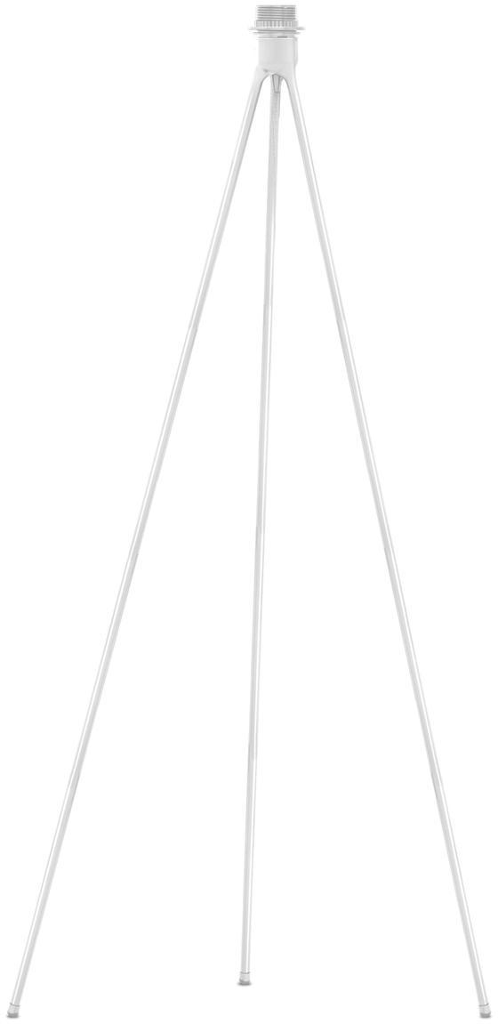 Design-Stehleuchtenfuß Tripod, Lampenfuß: Aluminium, beschichtet, Weiß, Ø 50 x H 109 cm