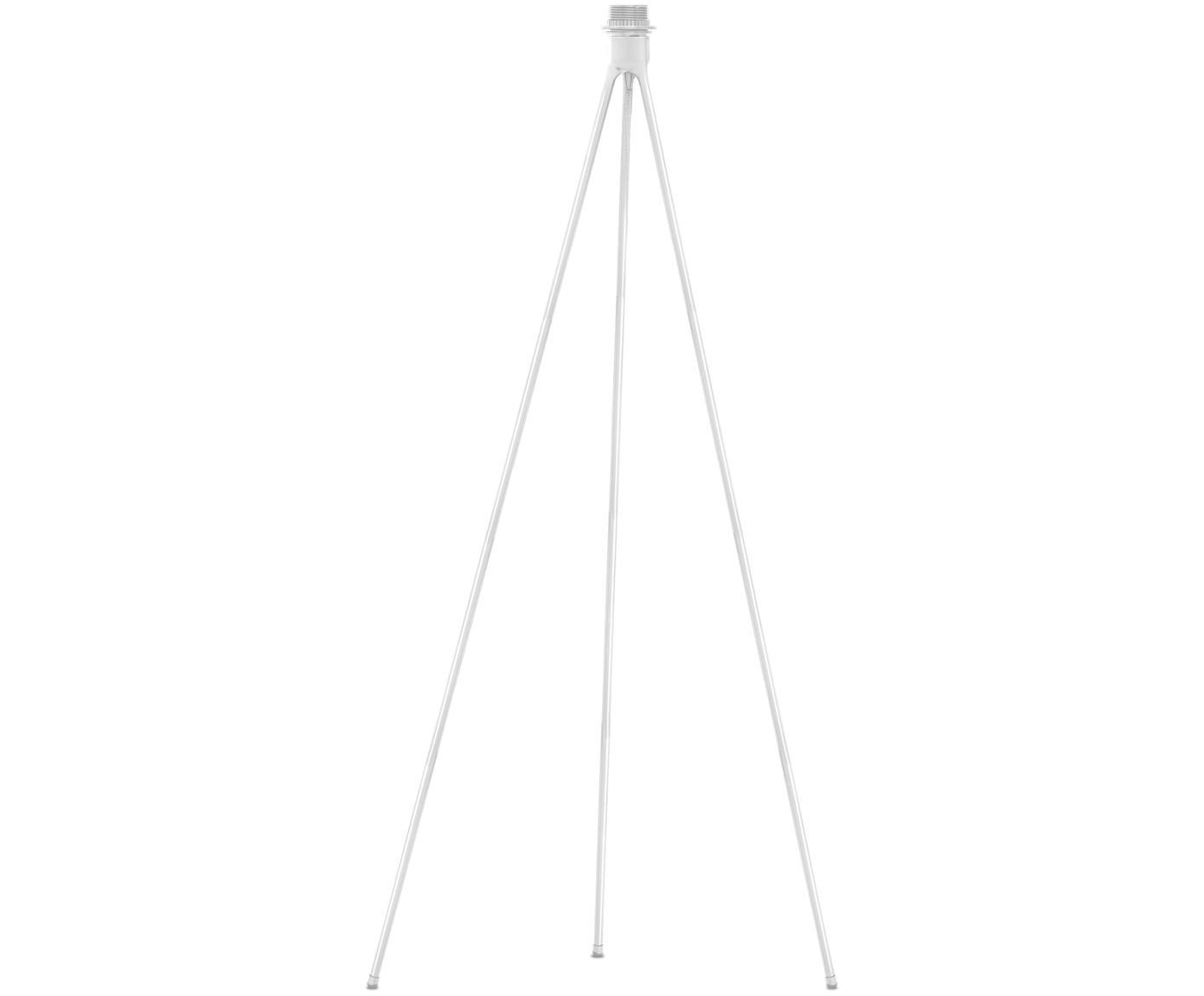 Base de lámpara de pie de diseño Trípode, Base de la lámpara: aluminio, recubierto, Cable: cubierto en tela, Blanco, Ø 50 x Al 109 cm
