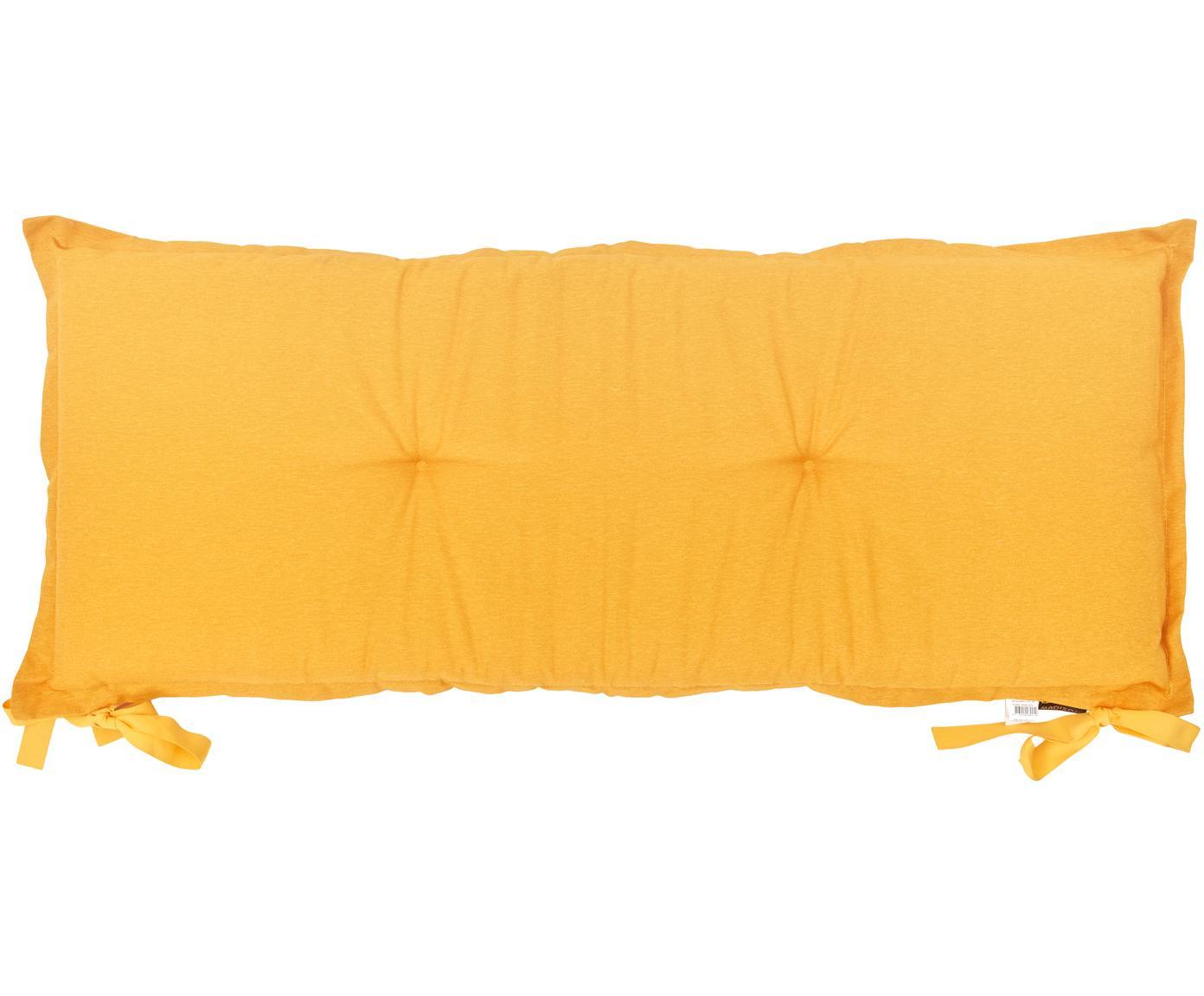 Cuscino sedia lungo Panama, 50% cotone, 45% poliestere, 5% altre fibre, Giallo, Larg. 48 x Lung. 150 cm