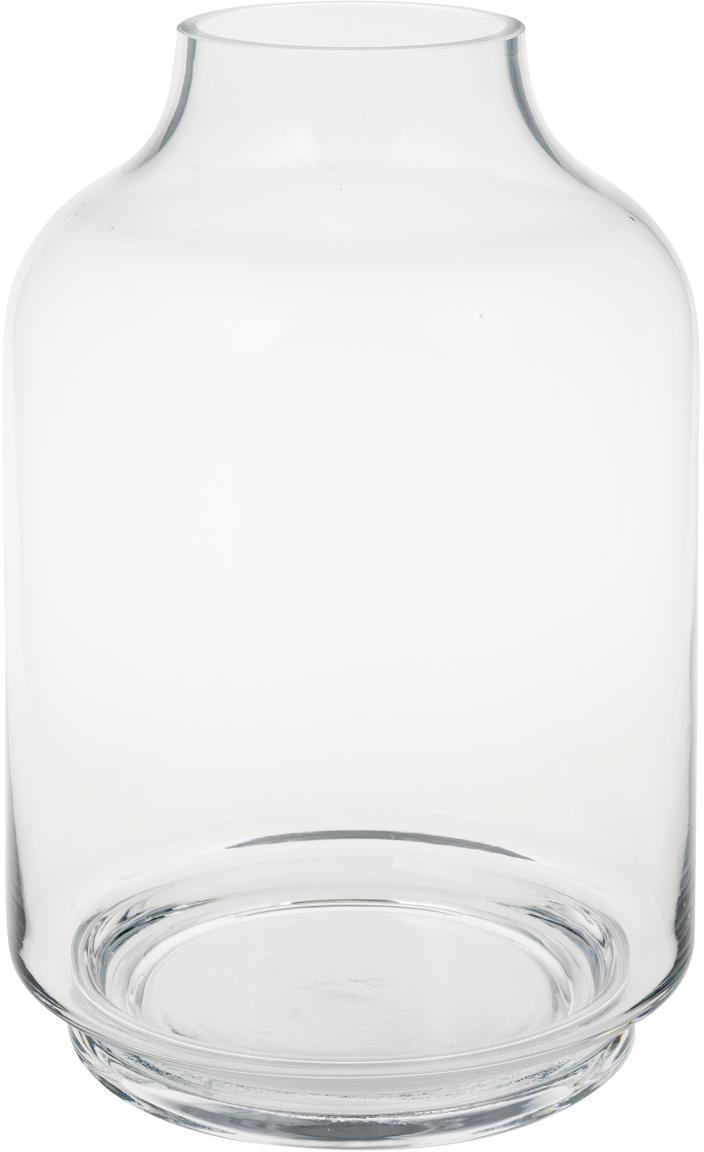 Jarrón de vidrio Vibeke, Vidrio, Transparente, Ø 17 x Al 26 cm