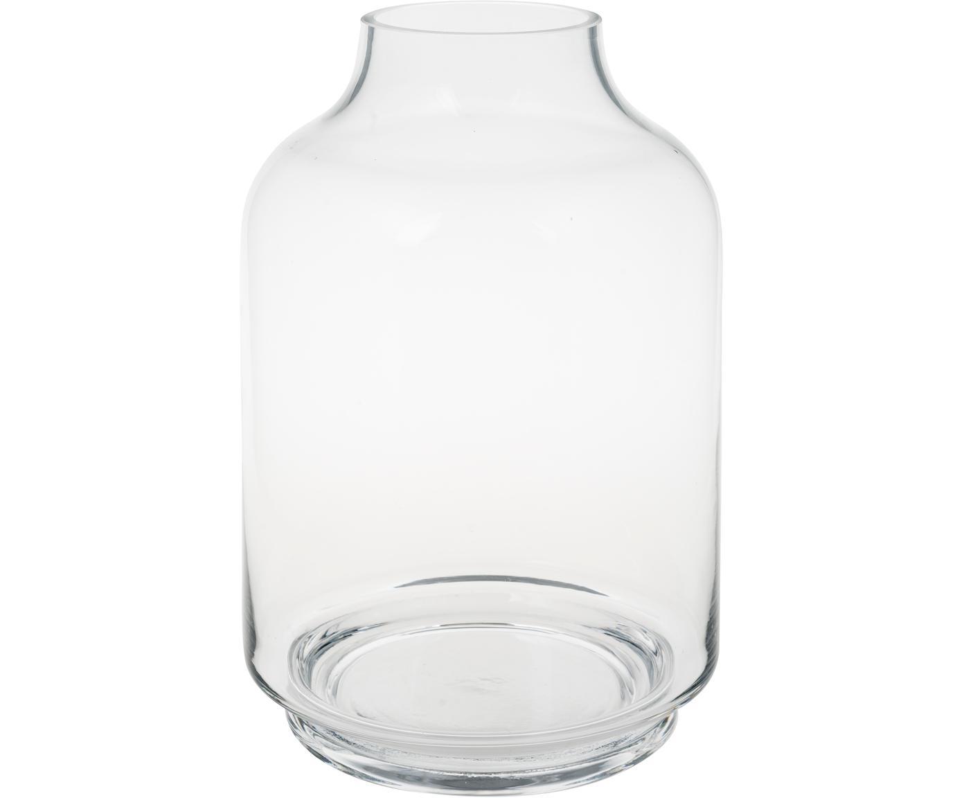 Wazon ze szkła Vibeke, Szkło, Transparentny, Ø 17 x W 26 cm