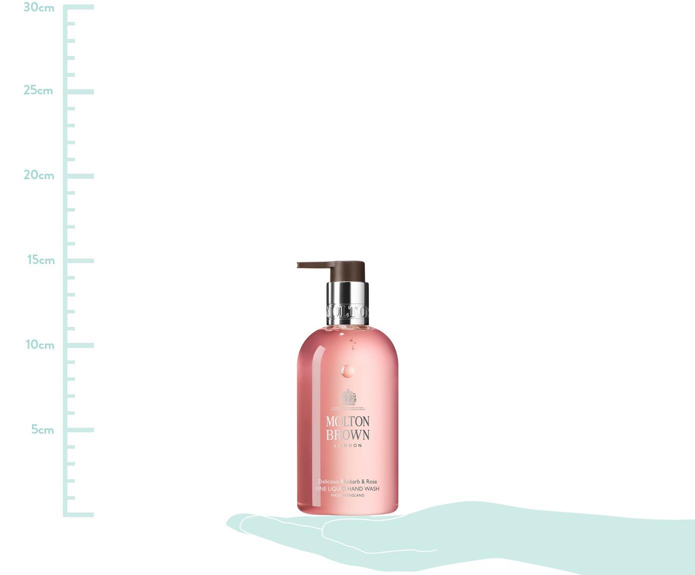 Flüssige Handseife Molton (Rhabarber & Rose), Behälter: Recycelbarer Kunststoff, Rosa, Ø 6 x H 15 cm