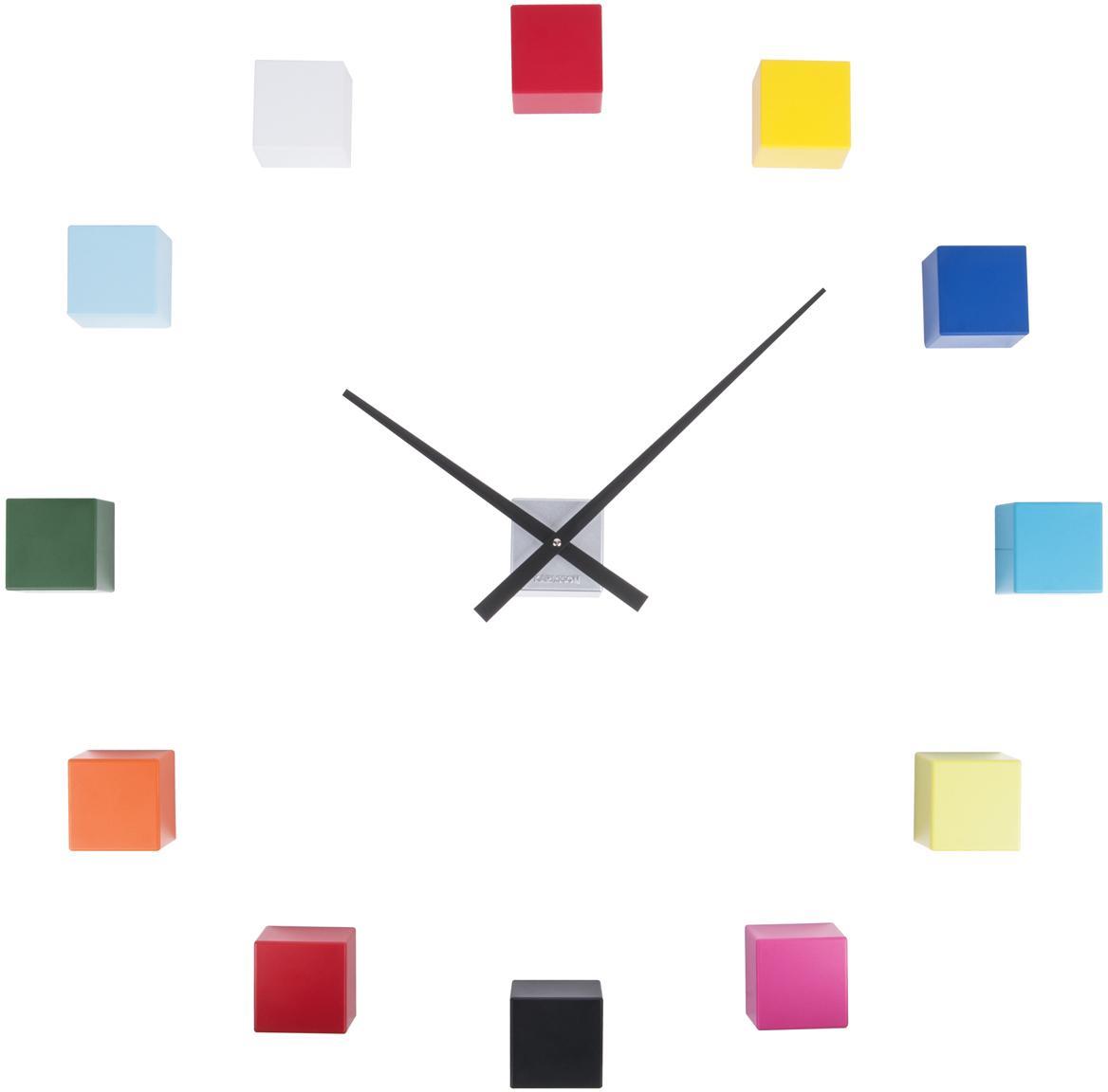 Zegar ścienny DIY Cubic, Tworzywo sztuczne, Wielobarwny, S 6 x W 6 cm
