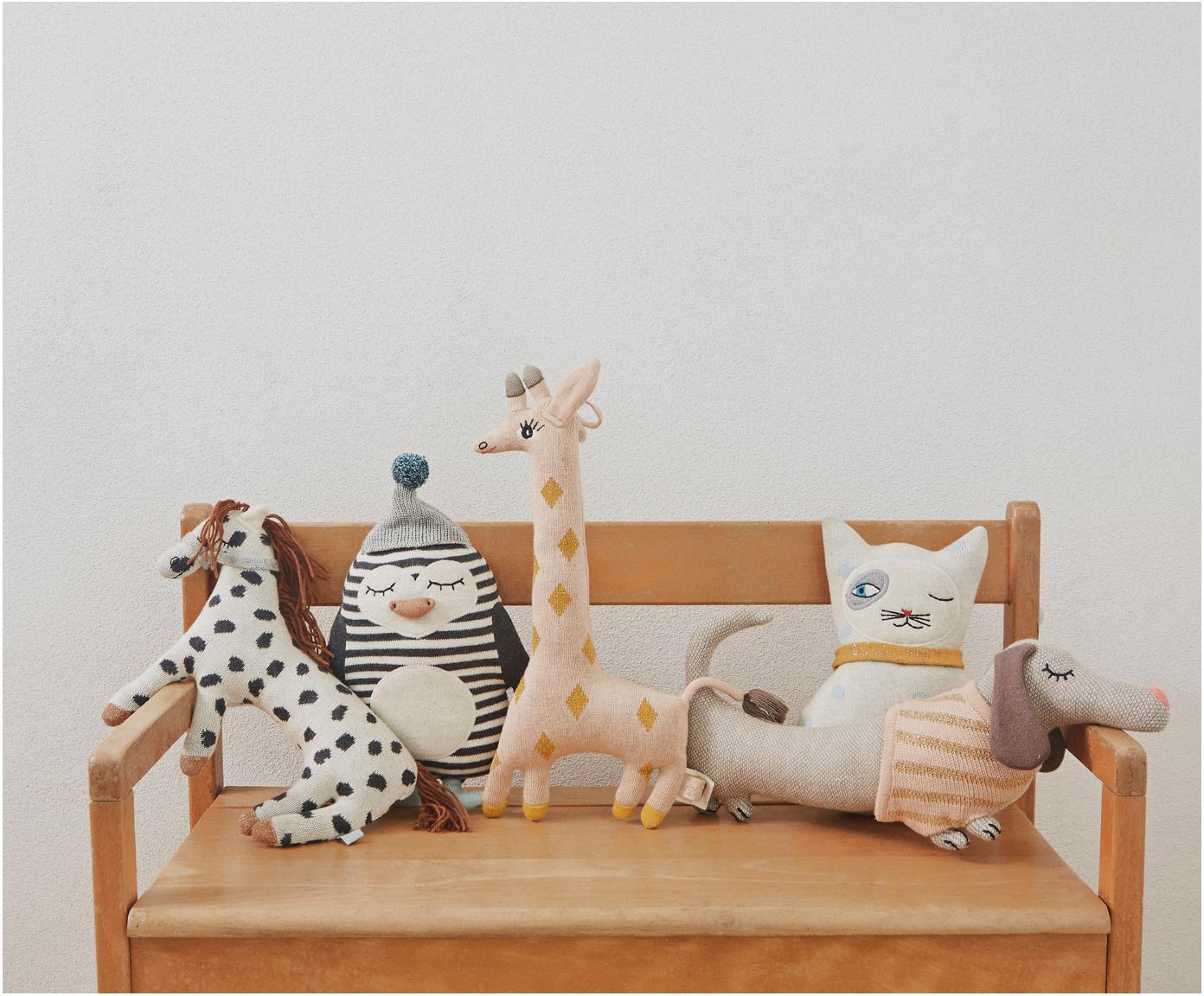 Kuschelkissen Bob, Bezug: 98%Baumwolle, 2%Lurex, Gebrochenes Weiß, Schwarz, Mintgrün, Orange, 18 x 26 cm