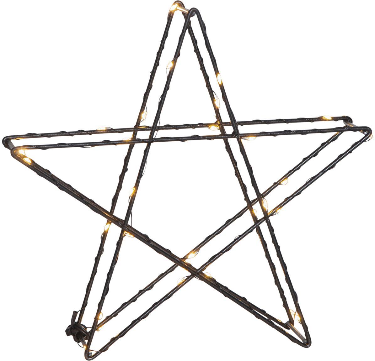 LED Leuchtobjekt Stern, batteriebetrieben, Schwarz, 25 x 25 cm