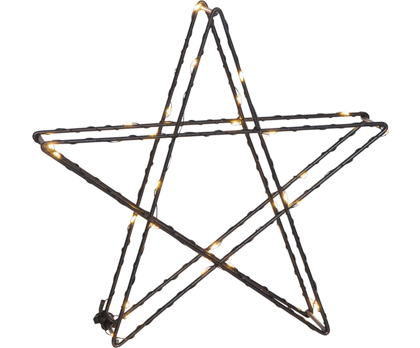 Dekoracja świetlna LED na baterie Stern, Czarny, S 25 x W 25 cm