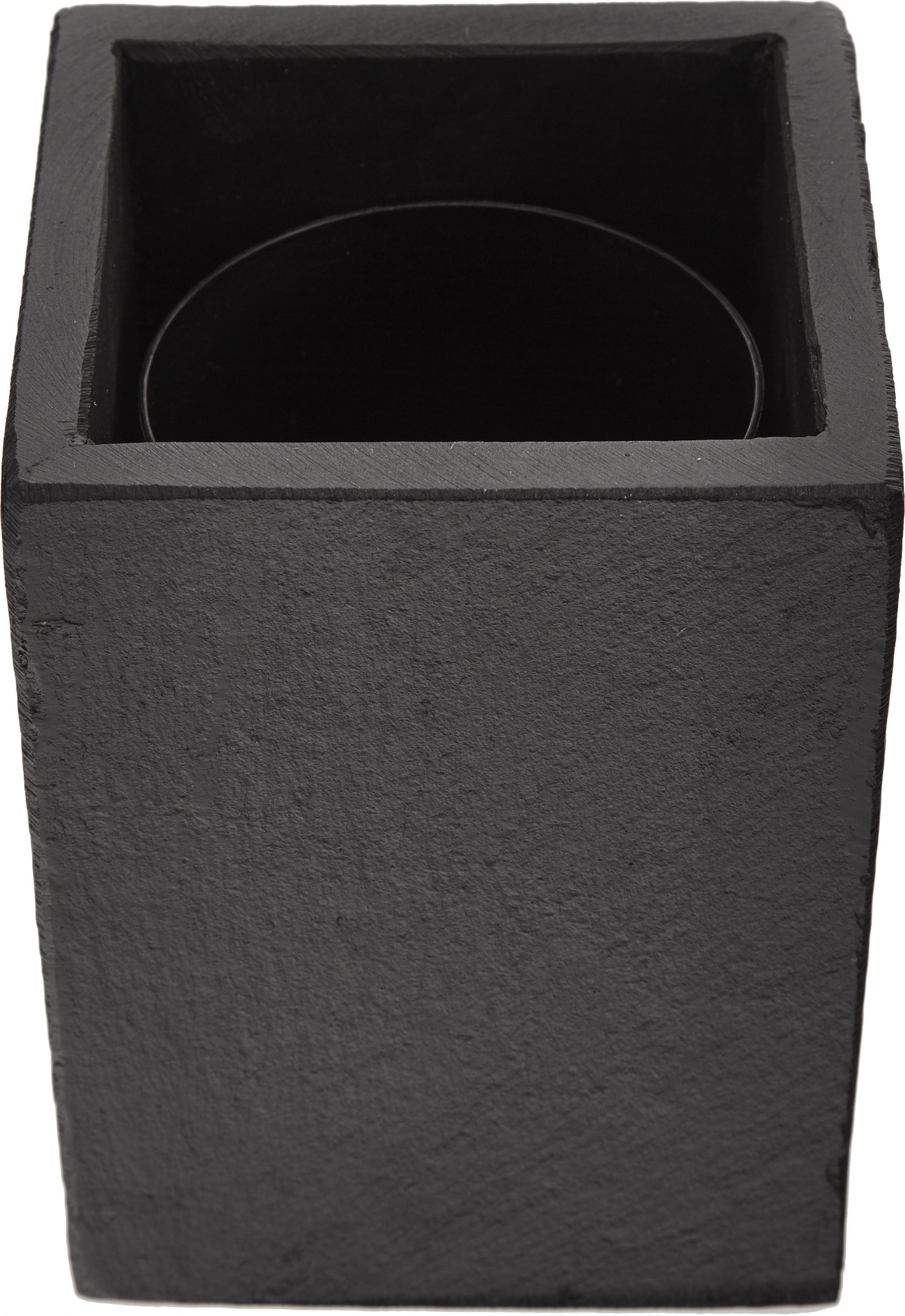 Toilettenbürste Nero mit Schiefer-Behälter, Schiefer, Edelstahl, Kunststoff, Dunkelgrau, H 41 cm