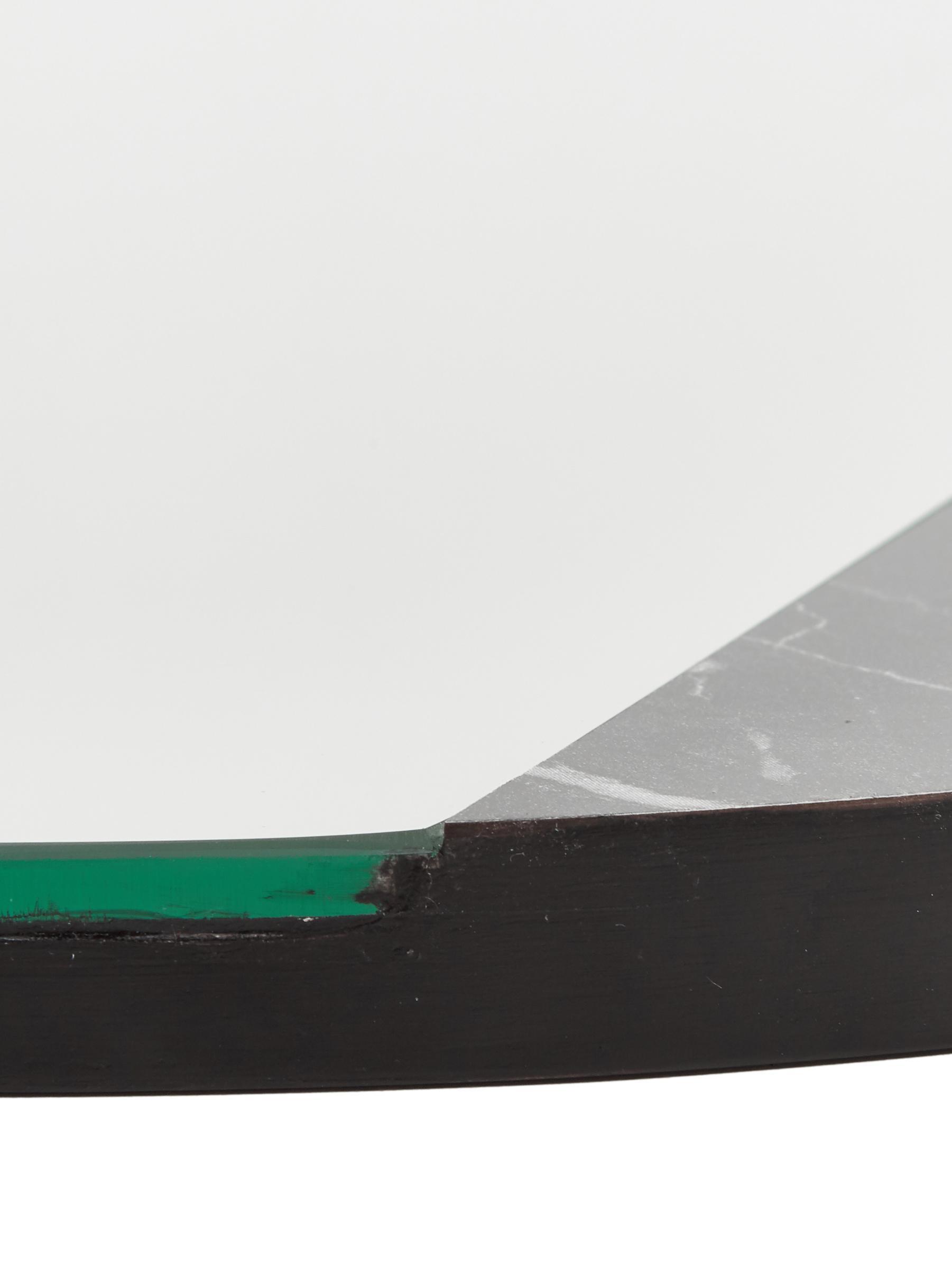Espejo de pared redondo Stockholm, Espejo: cristal, Reverso: tablero de fibra de densi, Negro veteado, Ø 60 cm