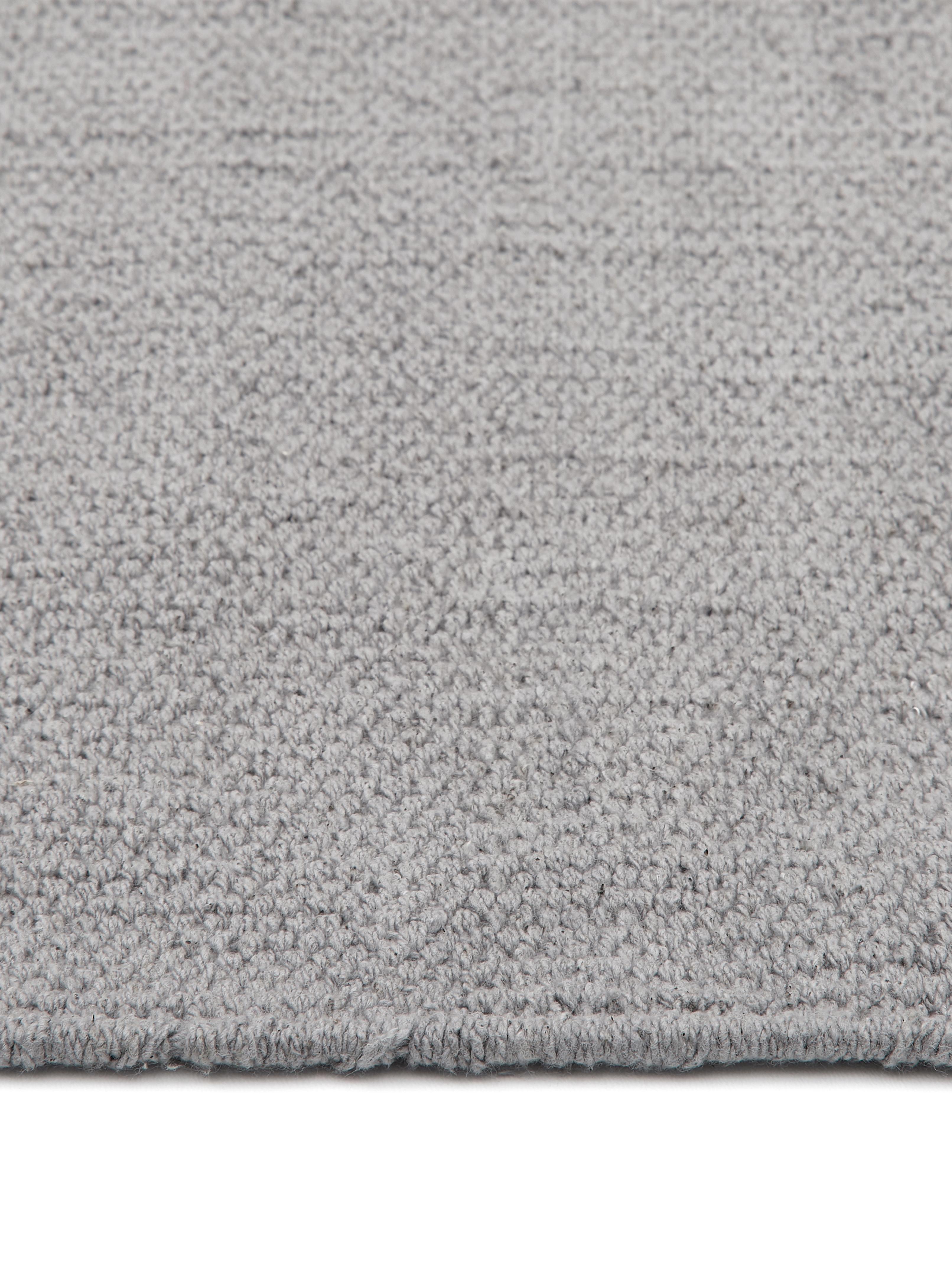 Tappeto in cotone tessuto a mano Agneta, Cotone, Grigio, Larg. 70 x Lung. 140 cm (taglia XS)
