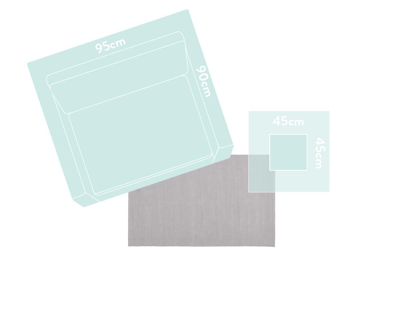Dünner Baumwollteppich Agneta, handgewebt, 100% Baumwolle, Grau, B 70 x L 140 cm (Größe XS)