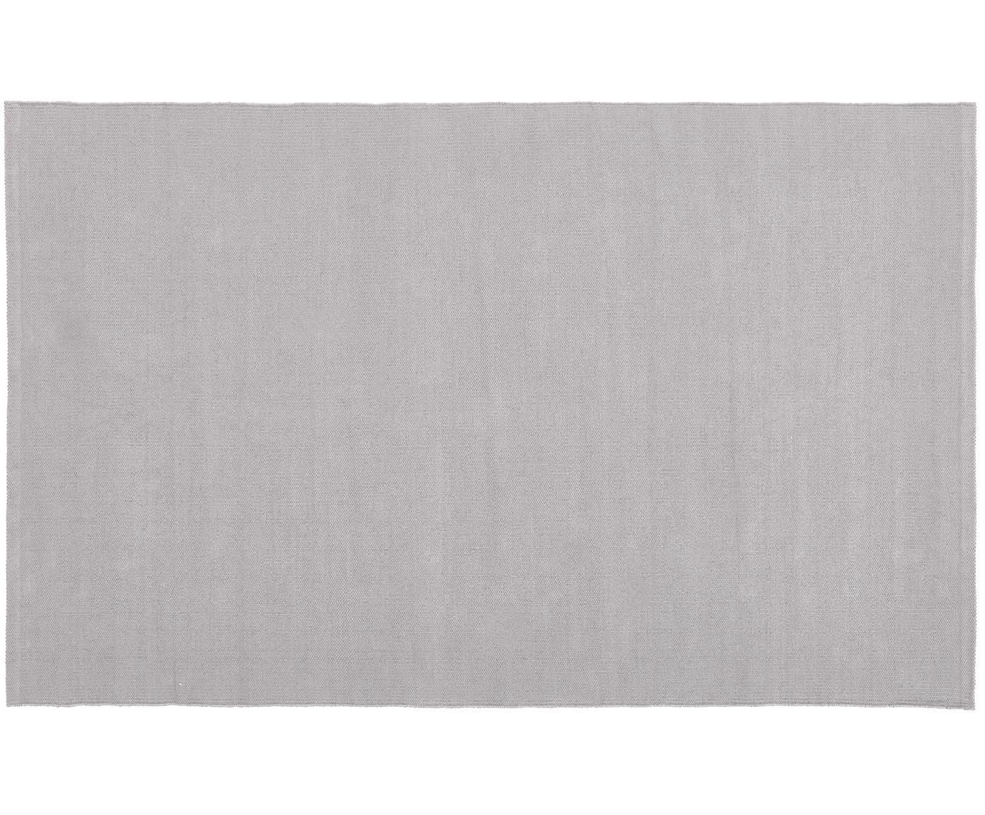Alfombra artesanal de algodón Agneta, Algodón, Gris, An 50 x L 80 cm (Tamaño XXS)
