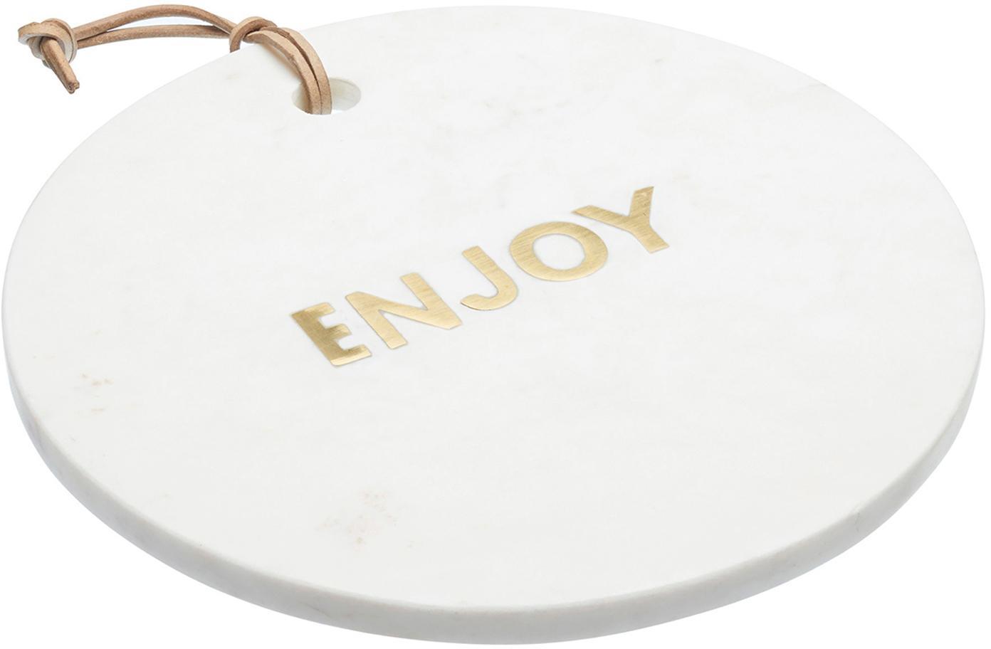 Fuente de mármol Artesa, Mármol, Blanco, dorado, Ø 26 cm