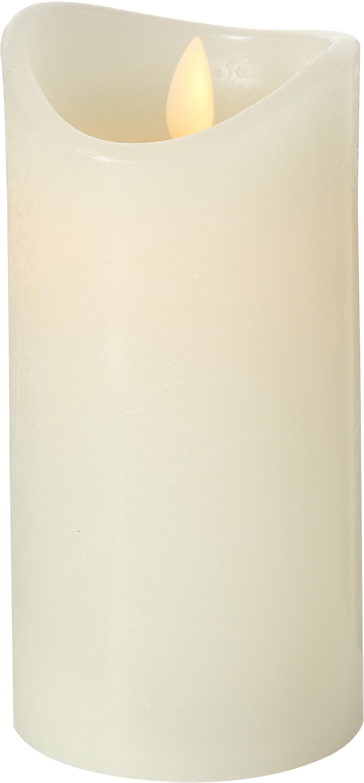 Candela a LED Bino, Color crema, Ø 8 x Alt. 15 cm
