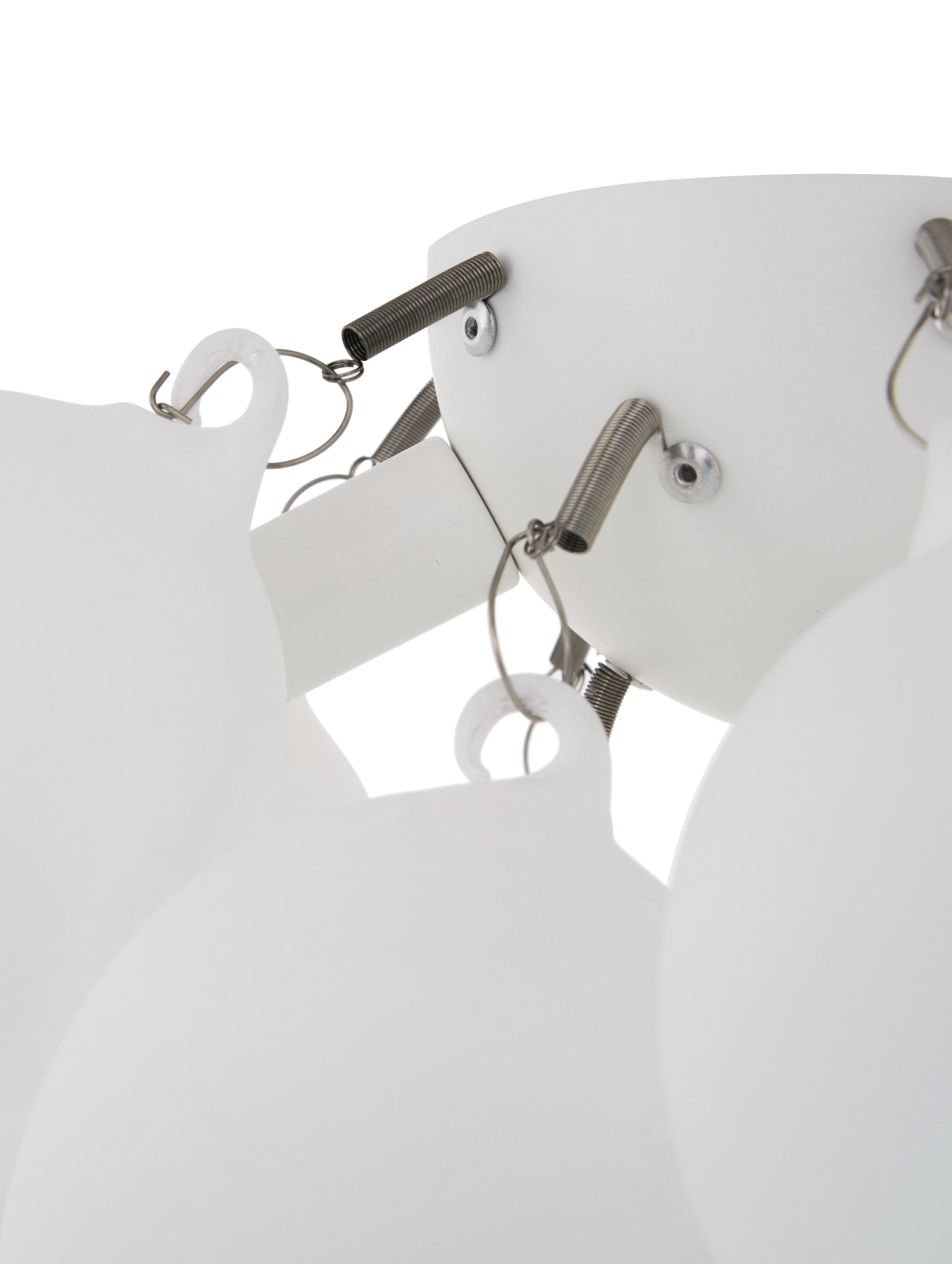 Kleine Glaskugel-Deckenleuchte Gross, Weiß, Chrom, Ø 30 x H 20 cm