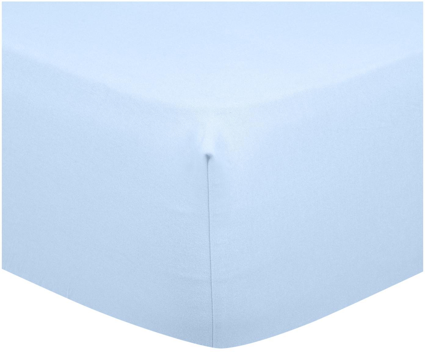 Spannbettlaken Biba in Hellblau, Flanell, Webart: Flanell, Hellblau, 180 x 200 cm