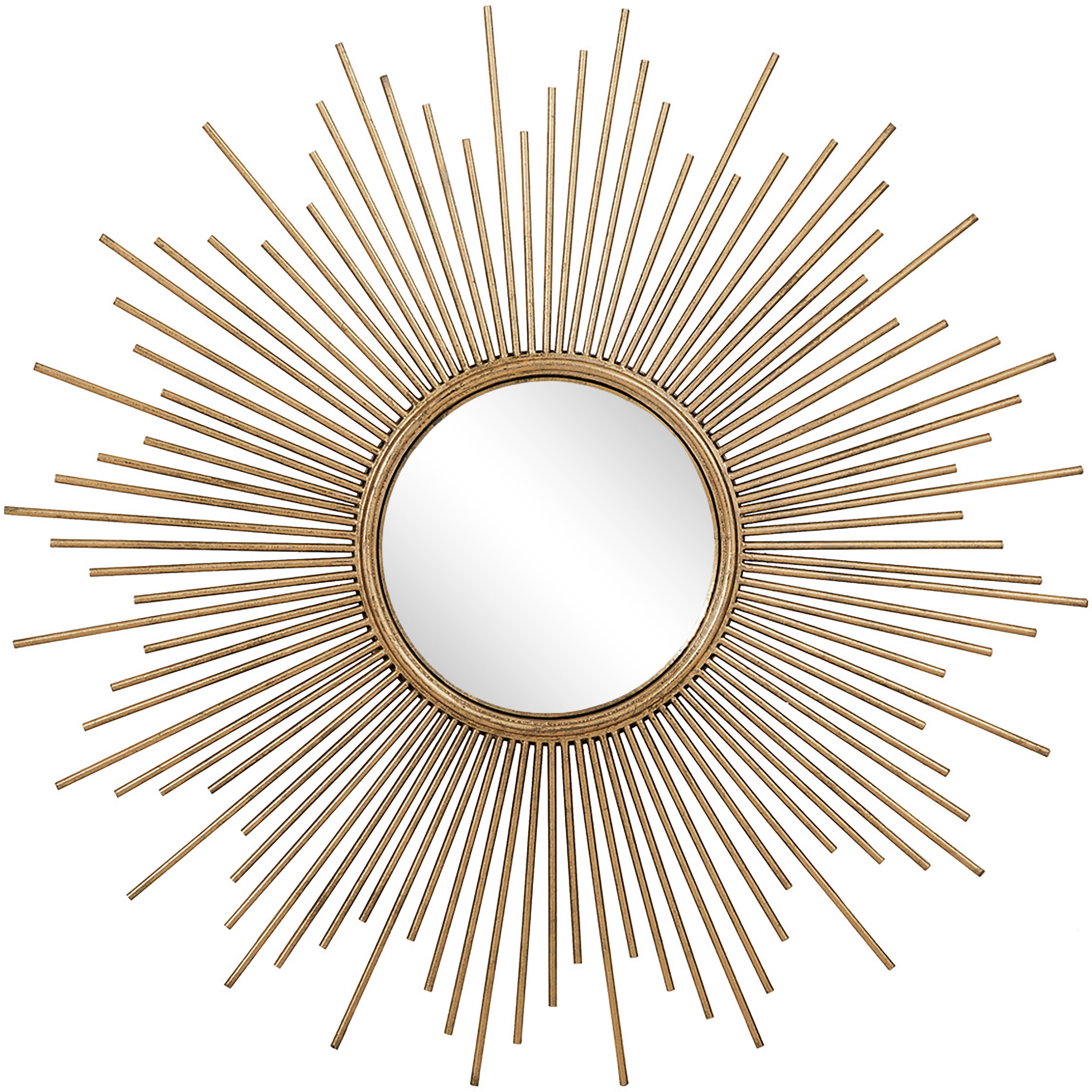 Lustro ścienne Cora, Odcienie złotego, Ø 98 cm