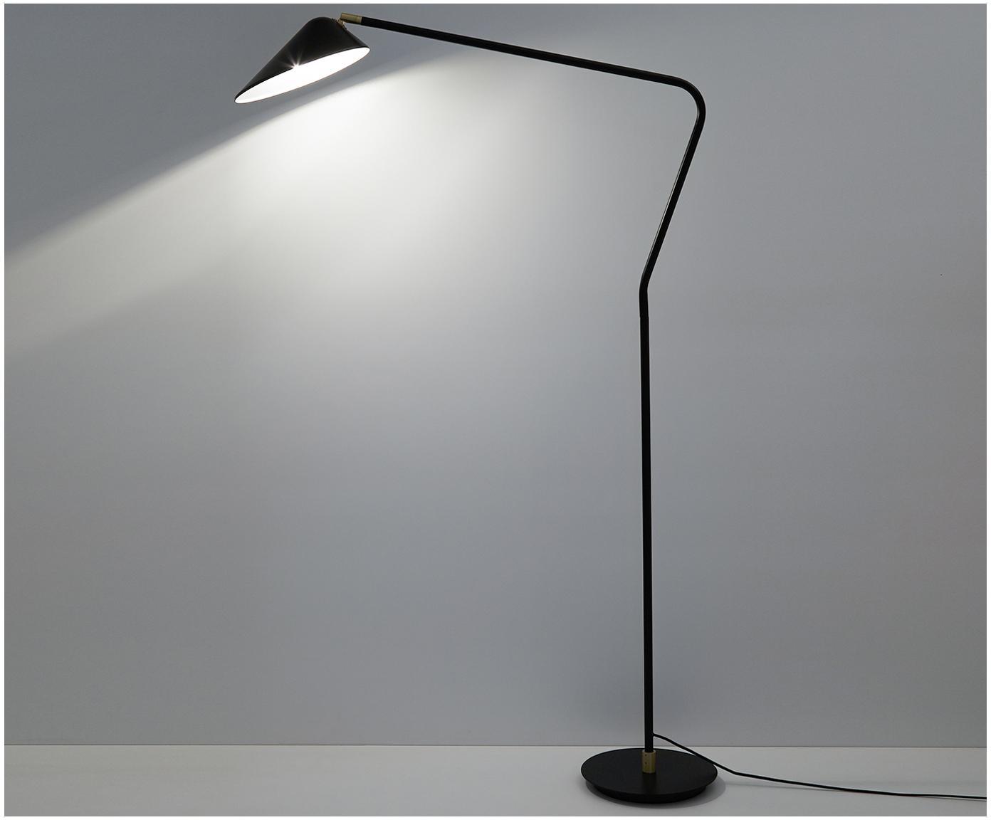 Lampa podłogowa Neron, Czarny, S 27 x W 171 cm