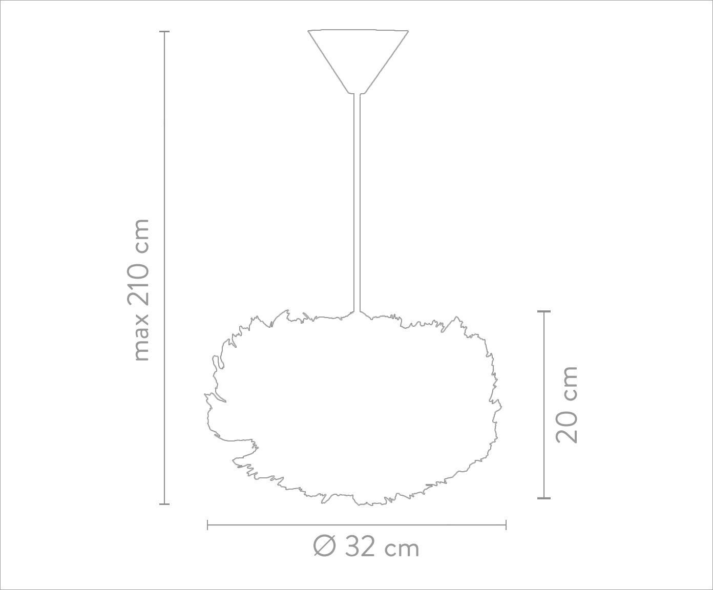 Pendelleuchte Eos aus Federn, Lampenschirm: Gänsefedern, Stahl, Baldachin: Kunststoff, Weiss, Ø 65 x H 40 cm