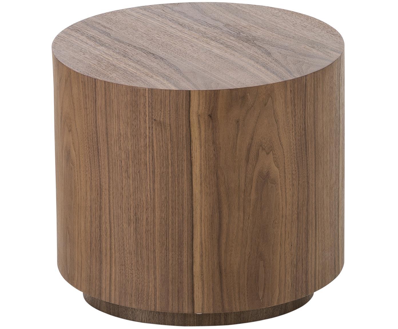 Bijzettafelset Dan van hout, 2-delig, MDF met walnoothoutfineer, Donkerbruin, Verschillende formaten