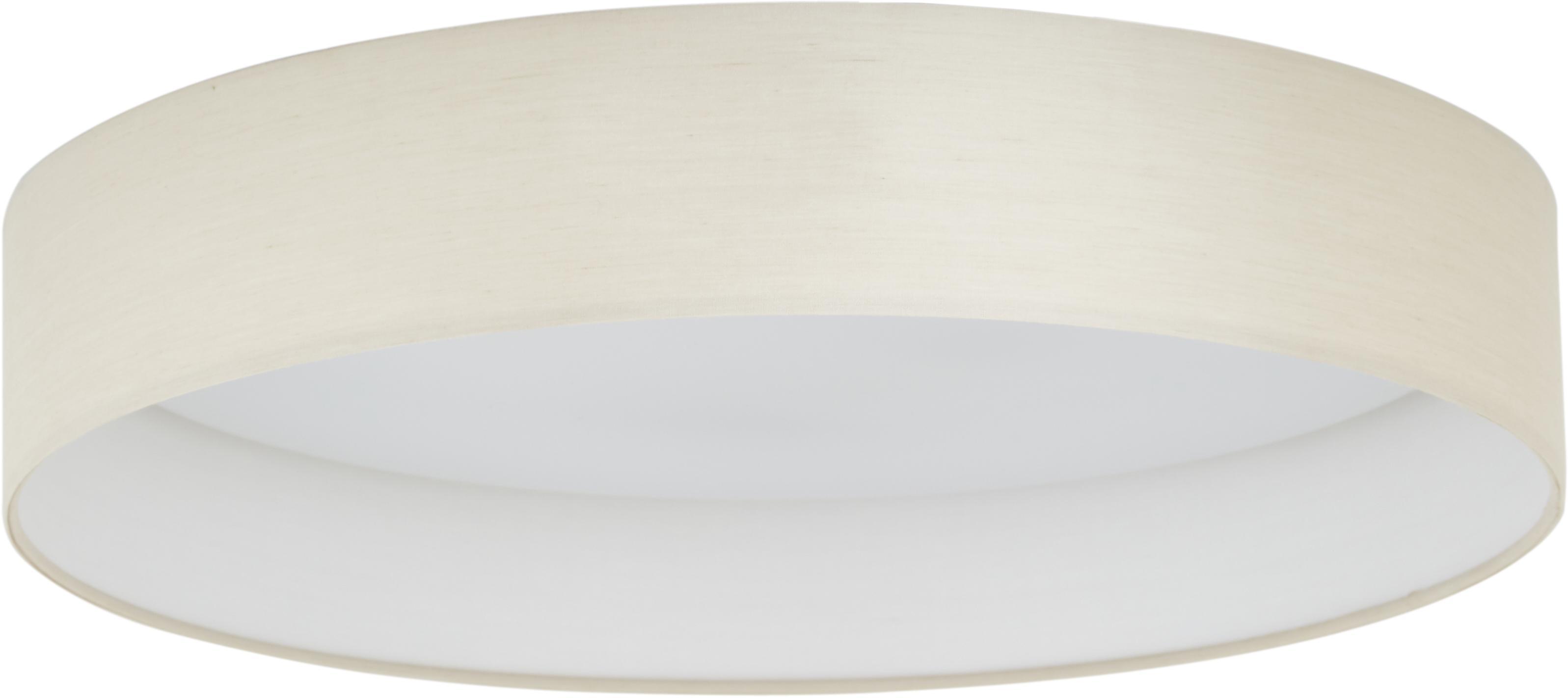 LED plafondlamp Helen, Frame: metaal, Diffuser: kunststof, Taupe, Ø 52 x H 11 cm