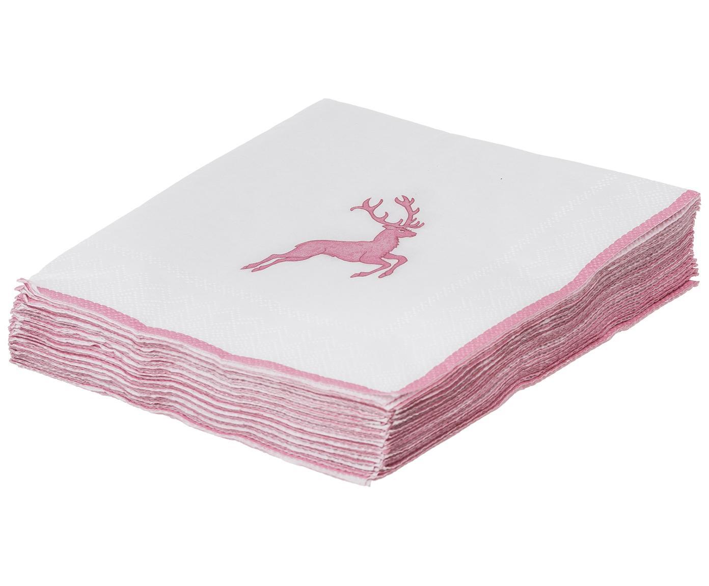 Ręcznie malowany serwis Rosa Gourmet Hirsch, 4 elem., Ceramika, Różowy, biały, Różne rozmiary