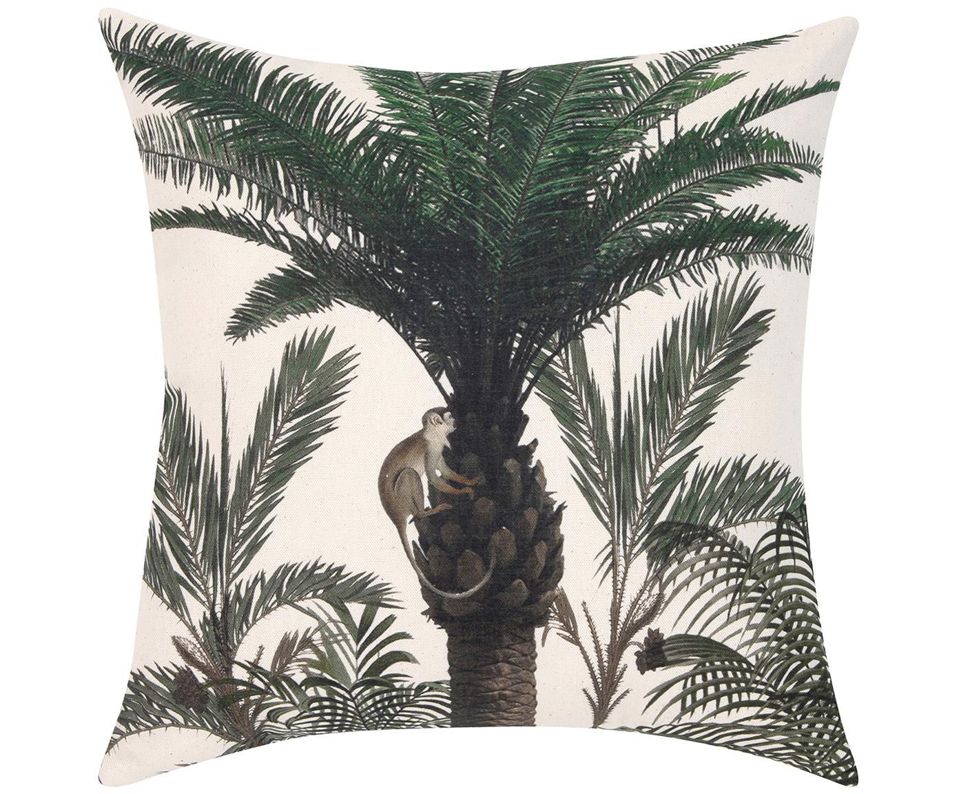 Federa arredo Balu, Cotone, Ecru, verde, Larg. 40 x Lung. 40 cm