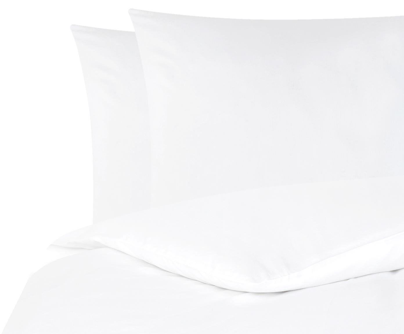 Parure copripiumino in raso di cotone Comfort, Bianco, 255 x 200 cm