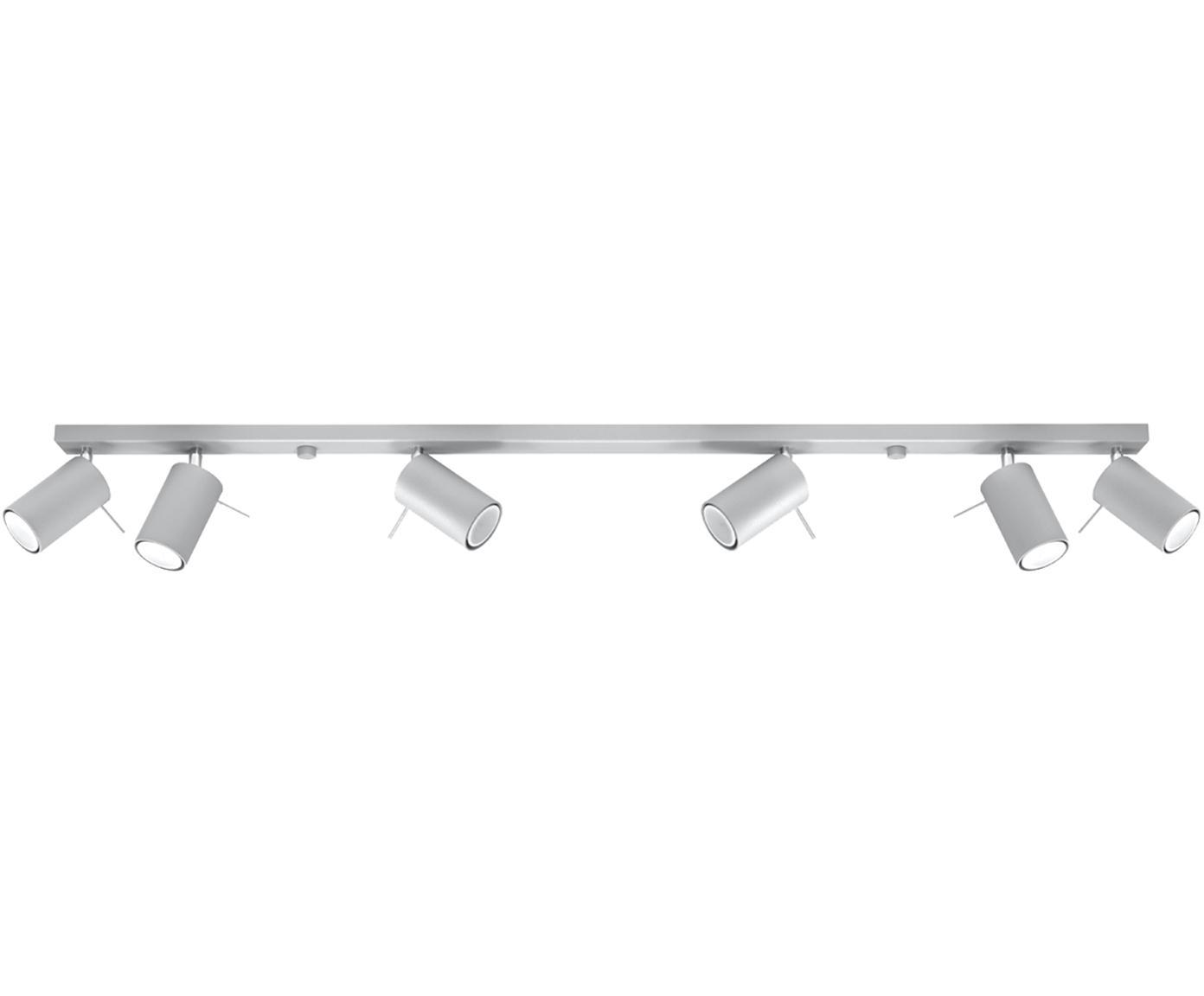 Deckenstrahler Etna in Grau, Stahl, Grau, 120 x 15 cm