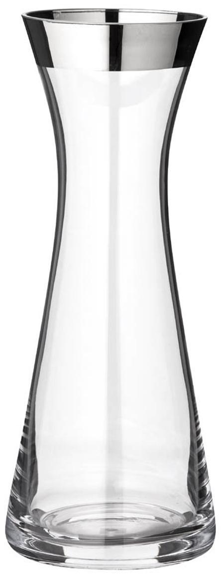 Karaffe Hendrik, Kristallglas , Platinrand, Transparent, 800 ml