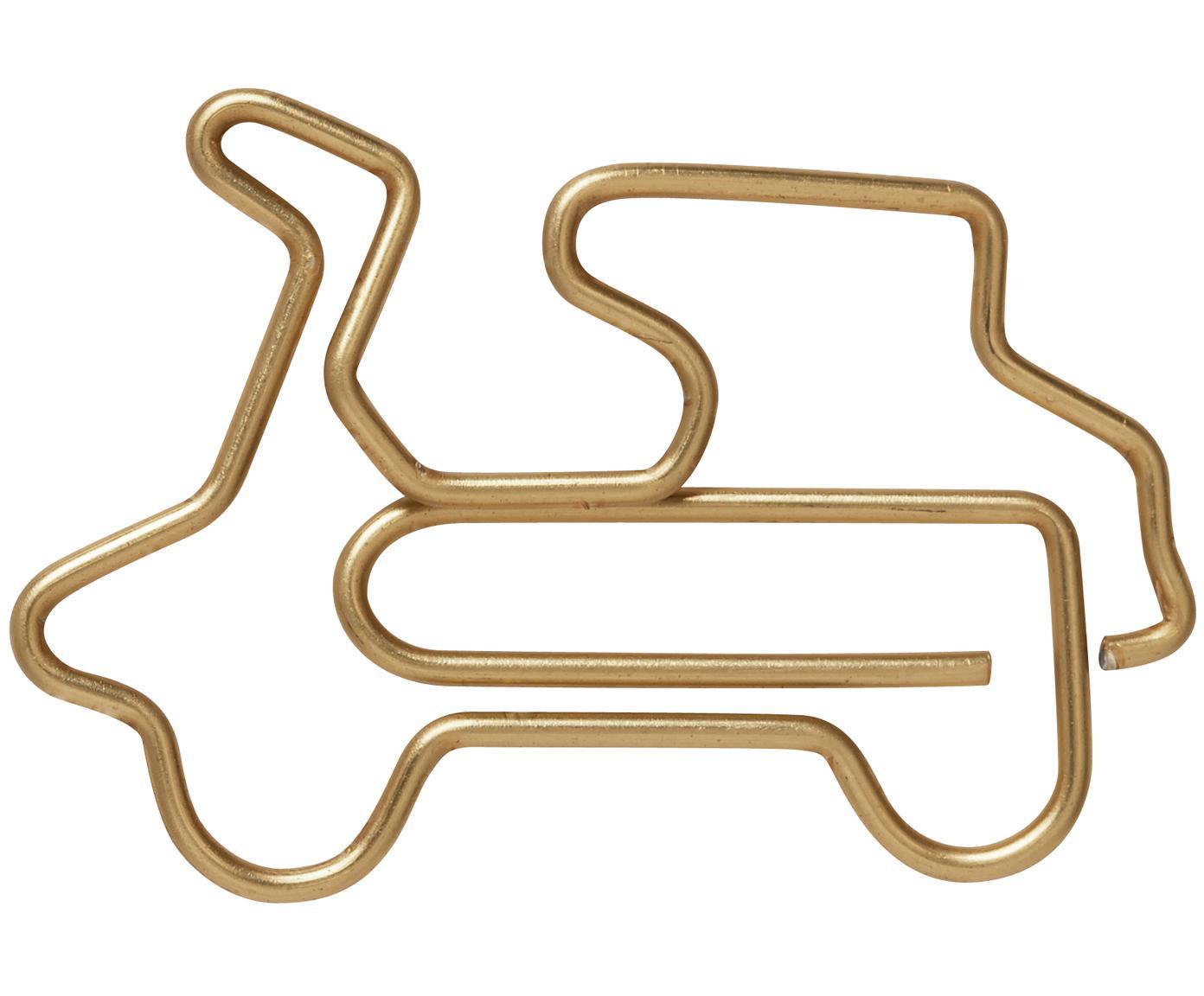 Pepel clips Vespa, 15uds., Metal, recubierto, Latón, An 3 x Al 2 cm