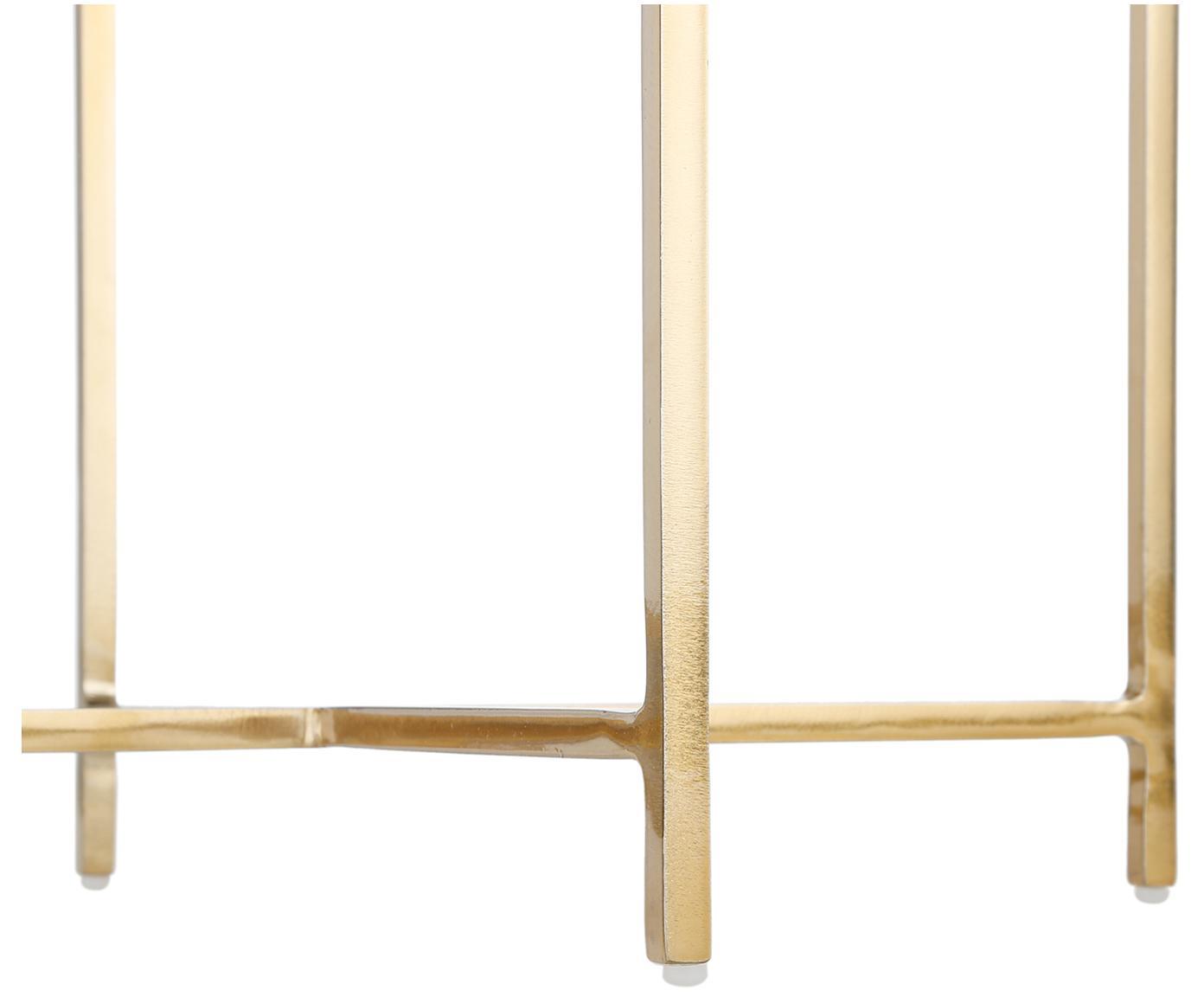 Stołek z aksamitu Madeleine, Tapicerka: aksamit bawełniany, Noga: metal malowany proszkowo, Tapicerka: ciemny szary Noga: odcienie złotego, matowy, Ø 40 x W 50 cm