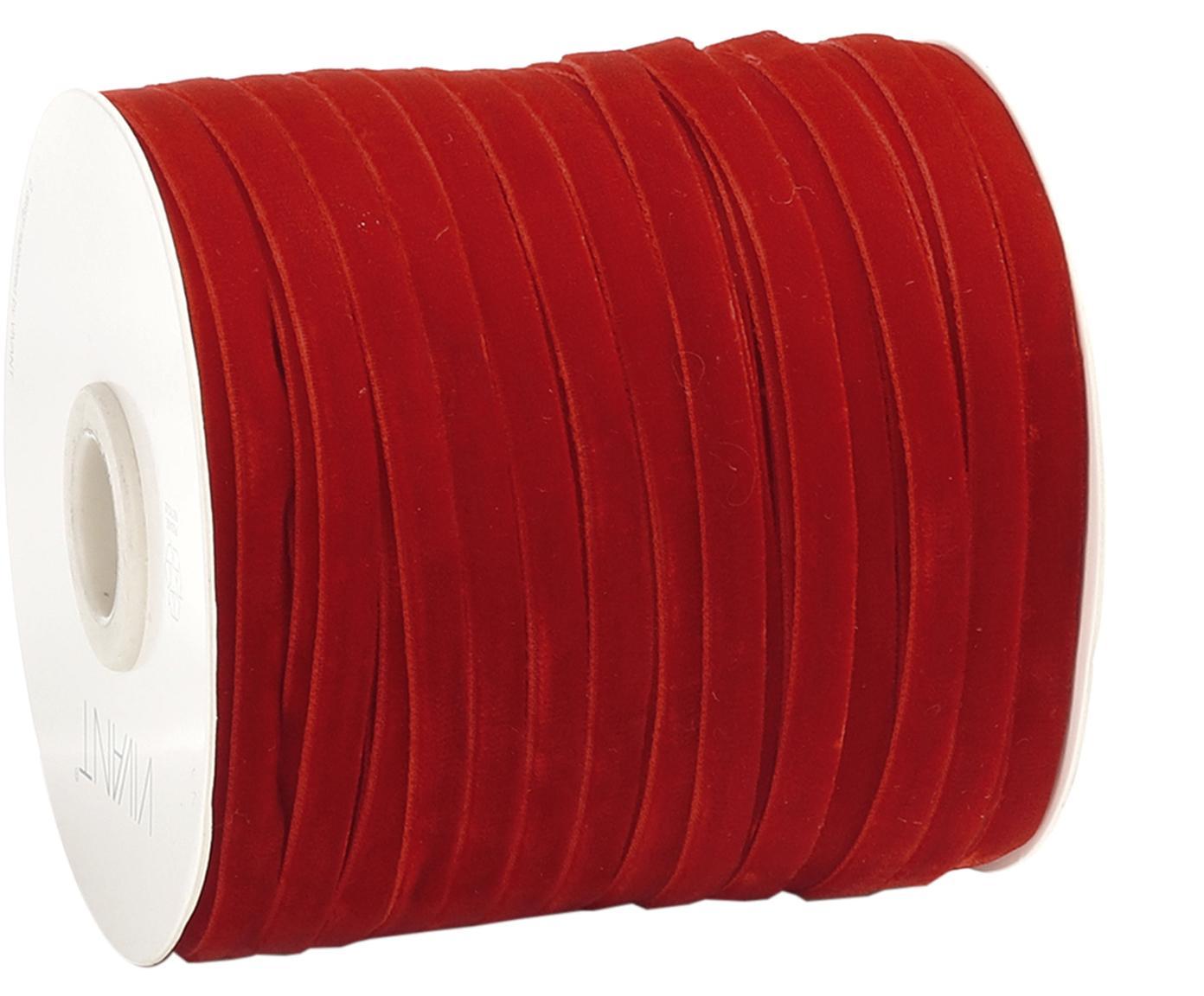 Wstążka prezentowa Velveta, Nylon, Czerwony, S 0,6 x D 10000 cm