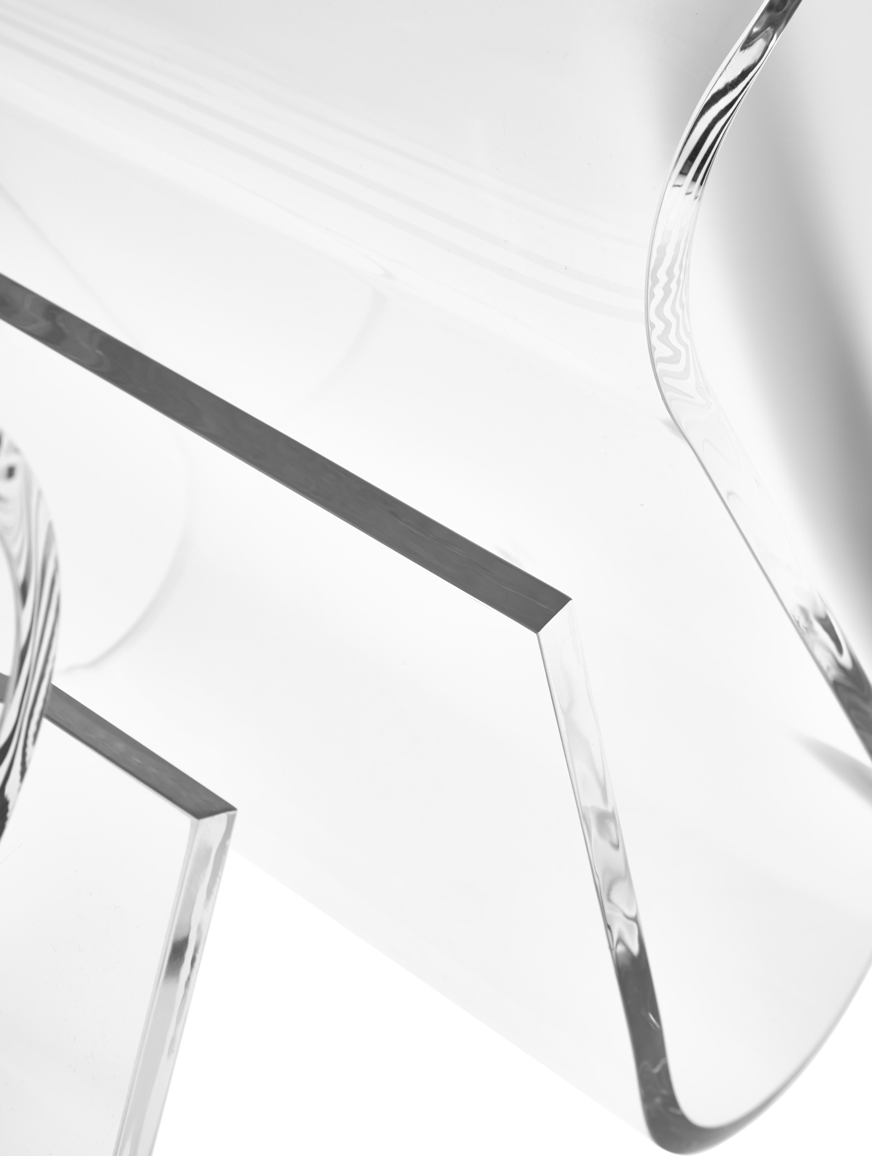 Tabouret transparent Loop, Transparent
