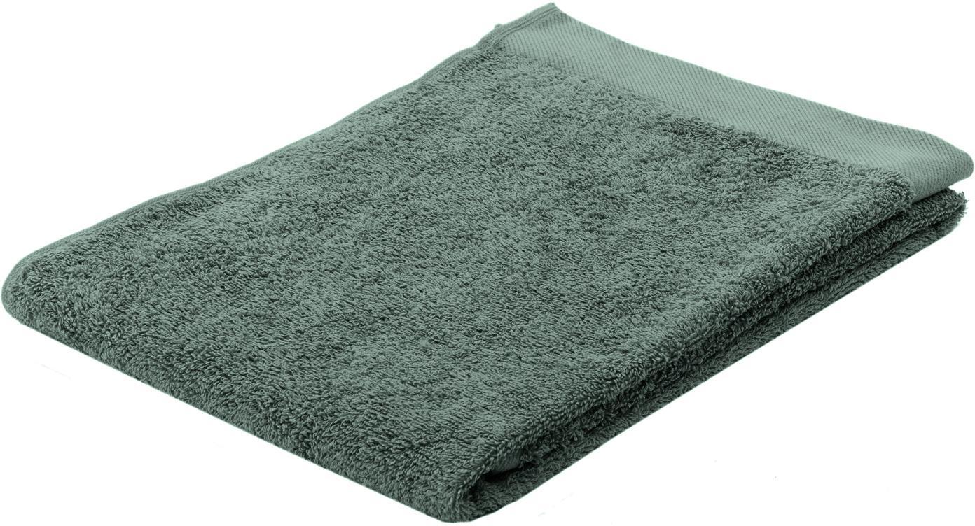 Handtuch Blend in verschiedenen Grössen, aus recyceltem Baumwoll-Mix, Grün, Handtuch