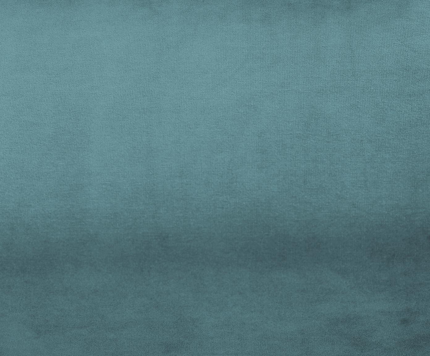 Zamatová rohová pohovka Moby, Tyrkysová