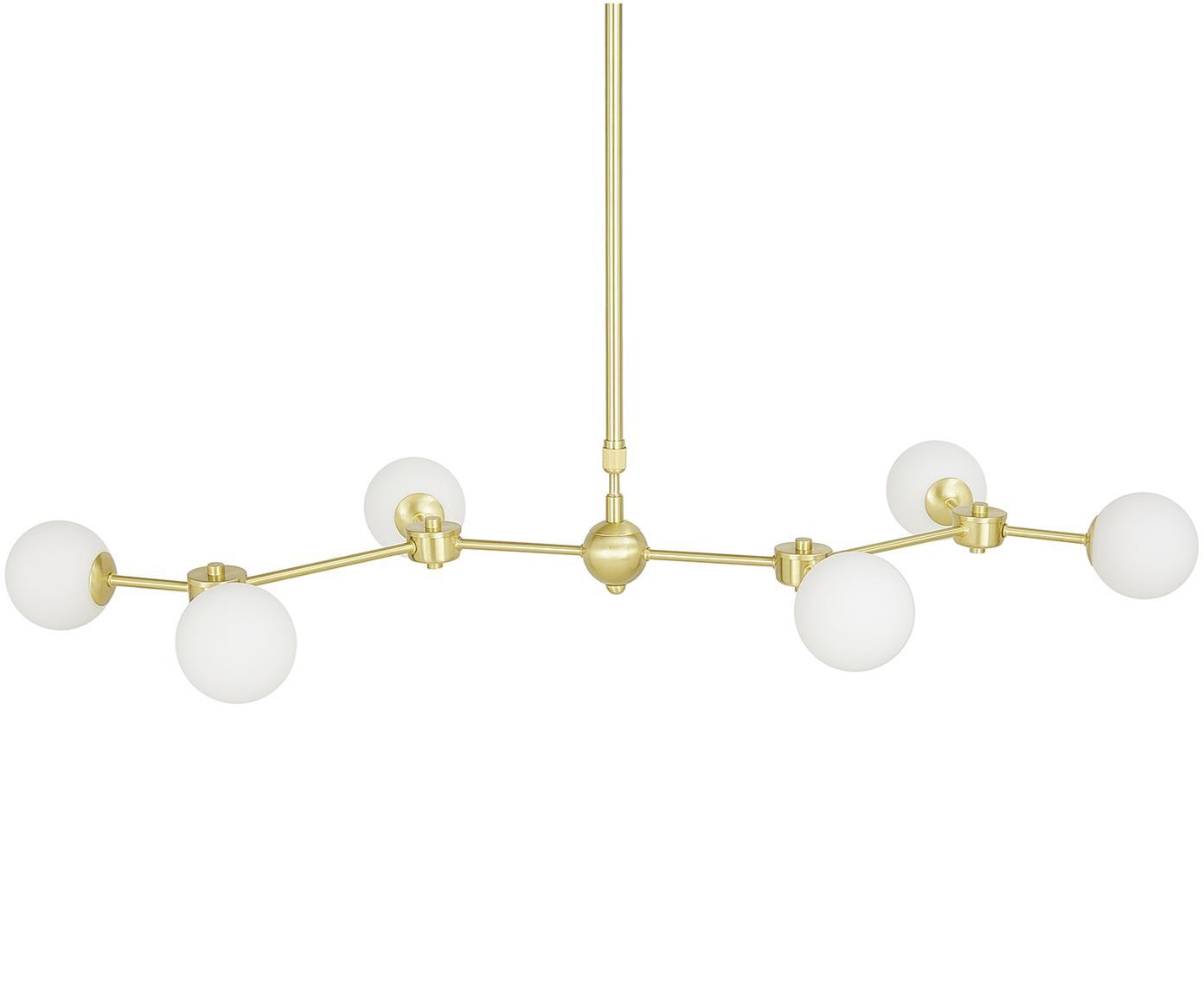 Lámpara de techo grande Aurelia, Blanco, latón, An 110 x F 55 cm