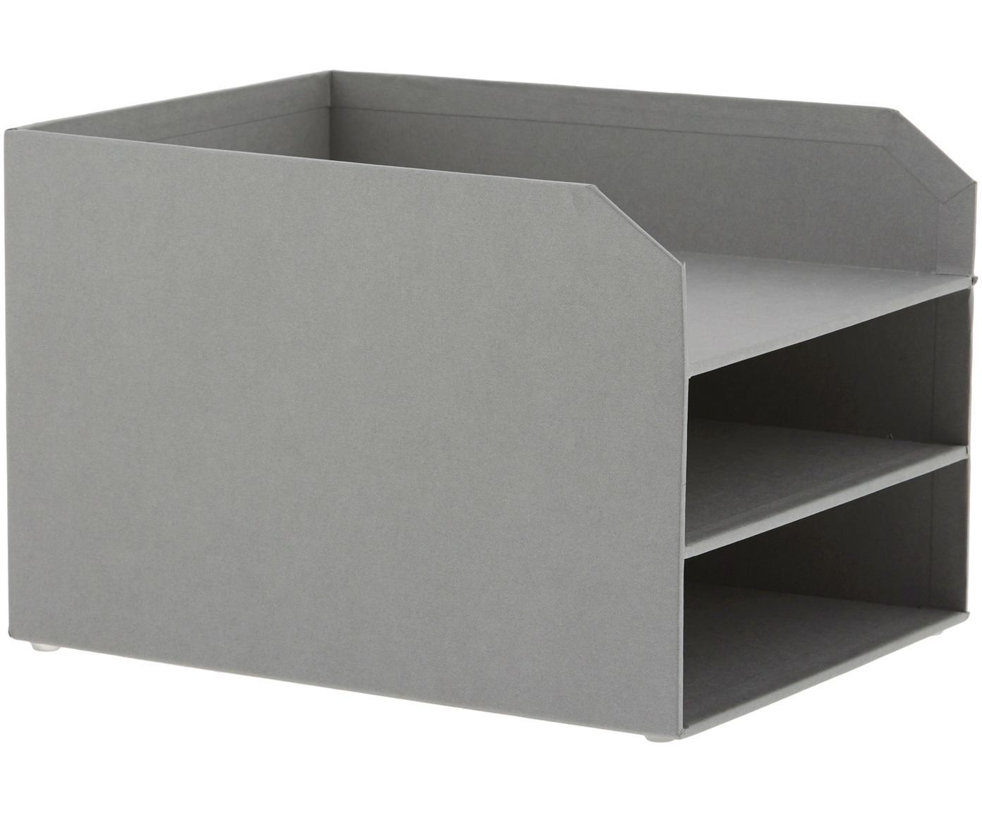 Organizer per documenti  Trey, Cartone solido e laminato, Grigio, Larg. 23 x Alt. 21 cm