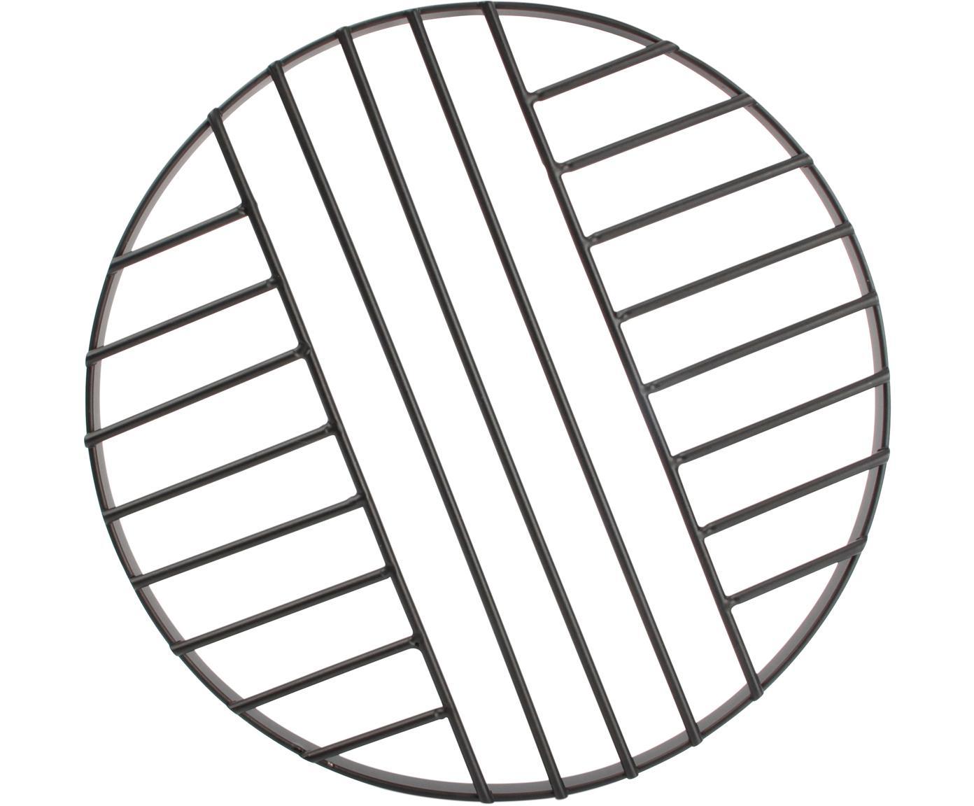 Topfuntersetzer Mazy, Metall, Schwarz, Ø 20 cm