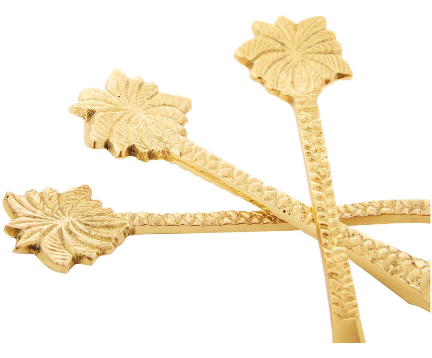 Set 3 posate dorate in ottone Palmtrees, Ottone, Ottone, Diverse dimensioni
