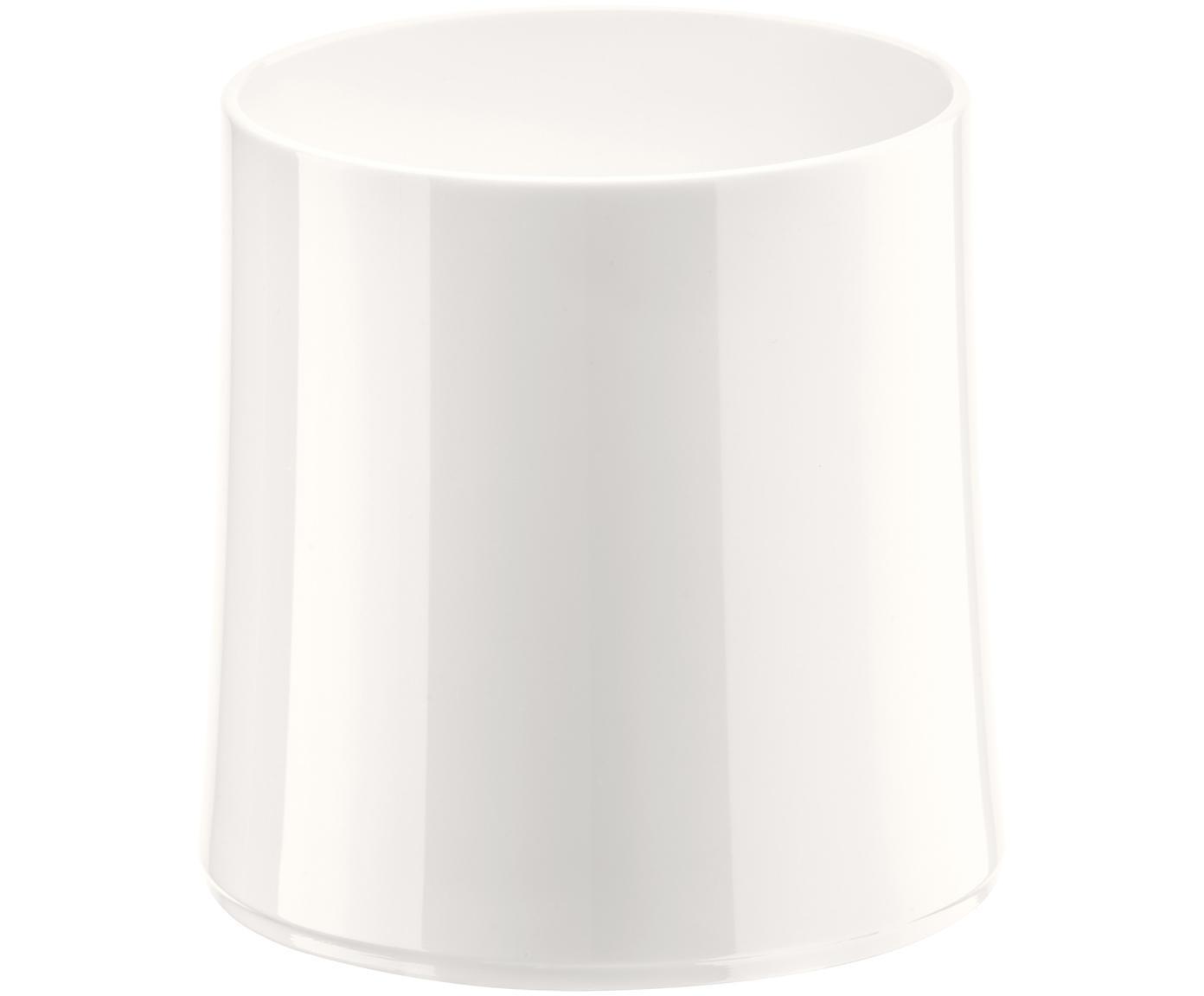 Vaso irrompible de plástico Cheers, Termoplástico (Superglass), Blanco brillante, Ø 9 x Al 9 cm