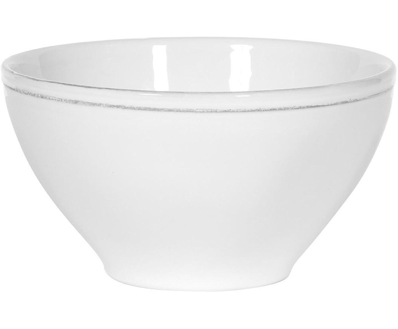 Kommen Constance in wit, 2 stuks, Keramiek, Wit, Ø 15 x H 9 cm