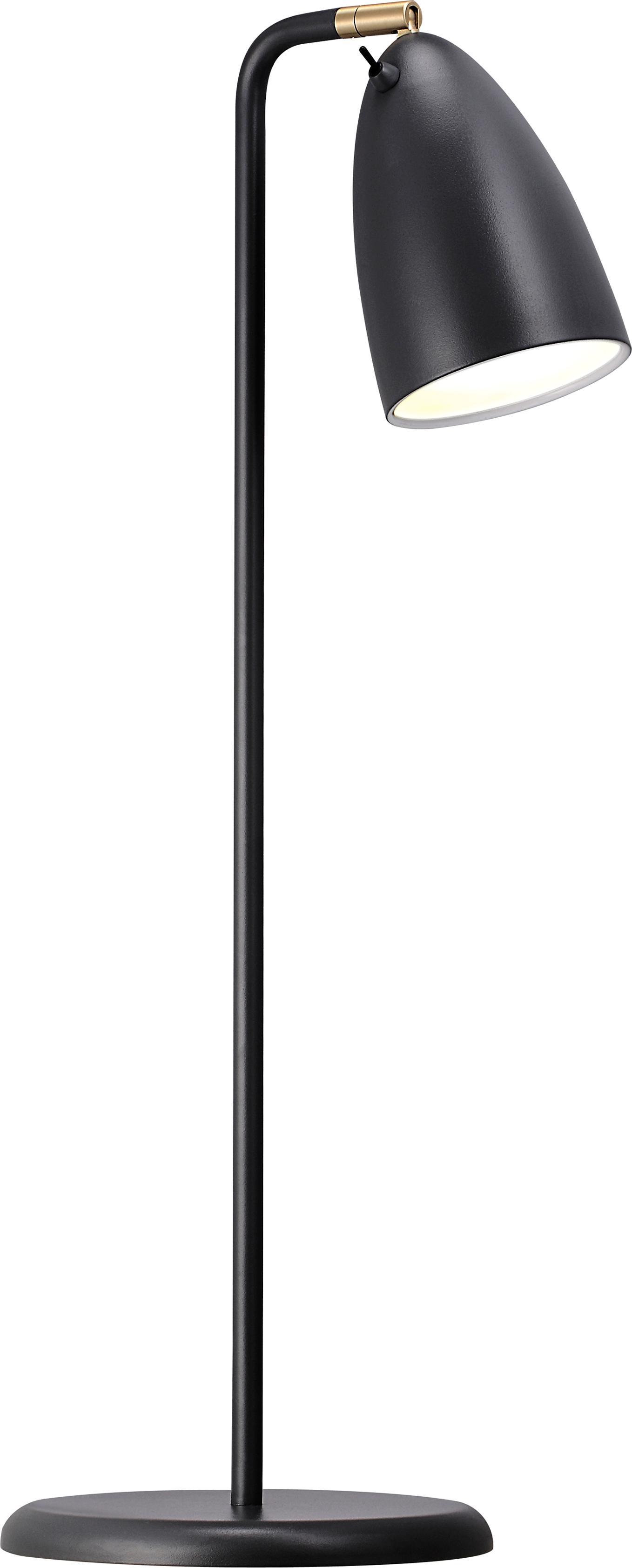 Lámpara de escritorio de metal Nexus 10, Pantalla: metal con pintura en polv, Base de la lámpara: metal con pintura en polv, Negro, An 28 x Al 63 cm