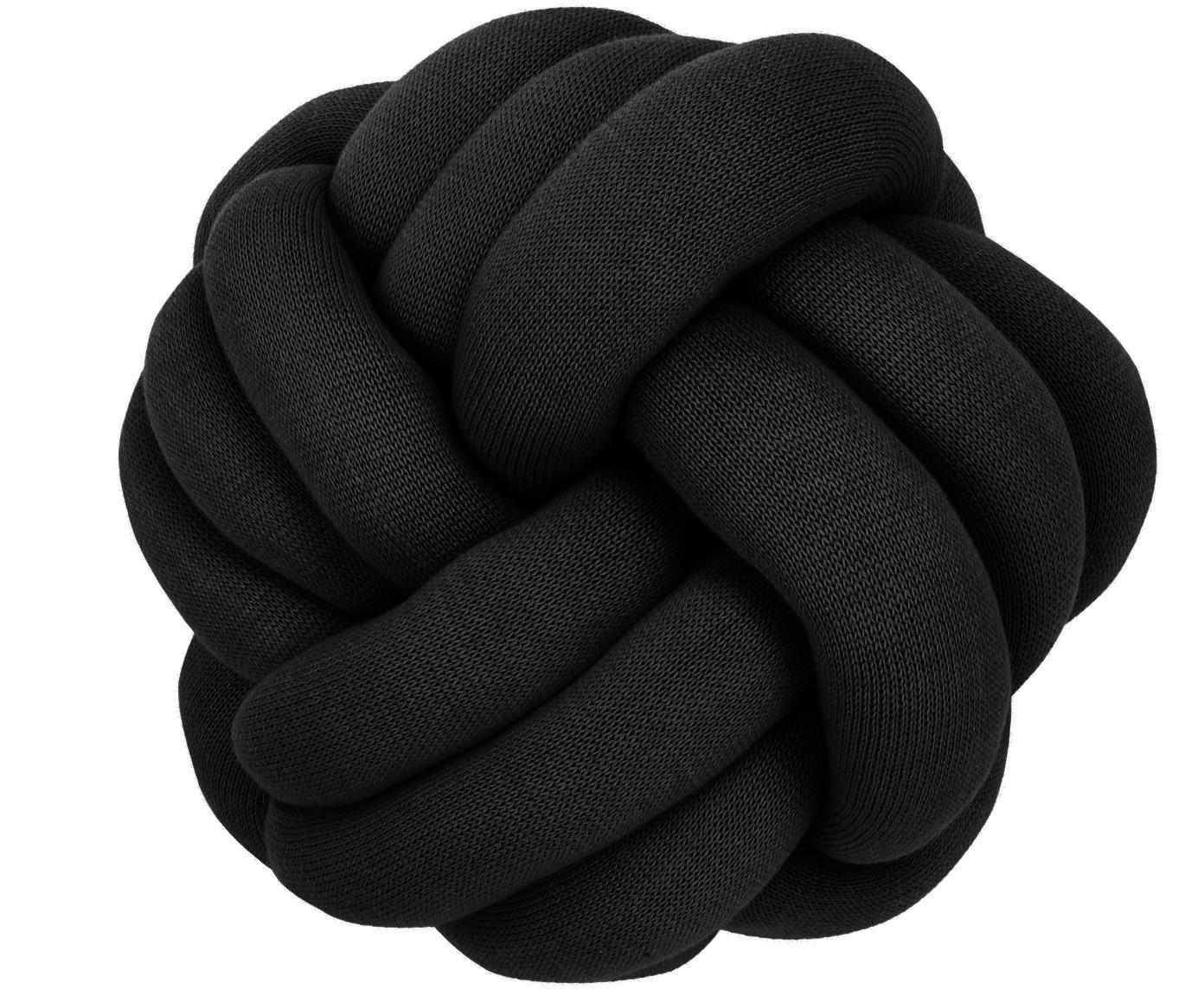 Cojín nudo Twist, Negro, Ø 30 cm