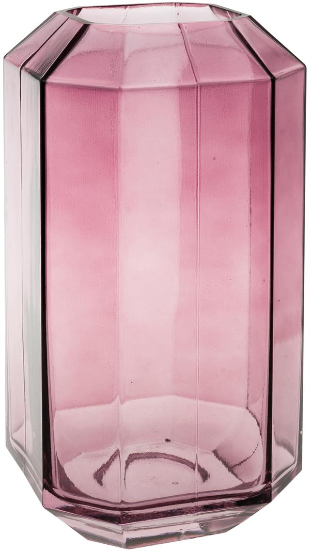 Vaso in vetro Divine, Vetro, Viola, trasparente, Ø 8 x Alt. 16 cm