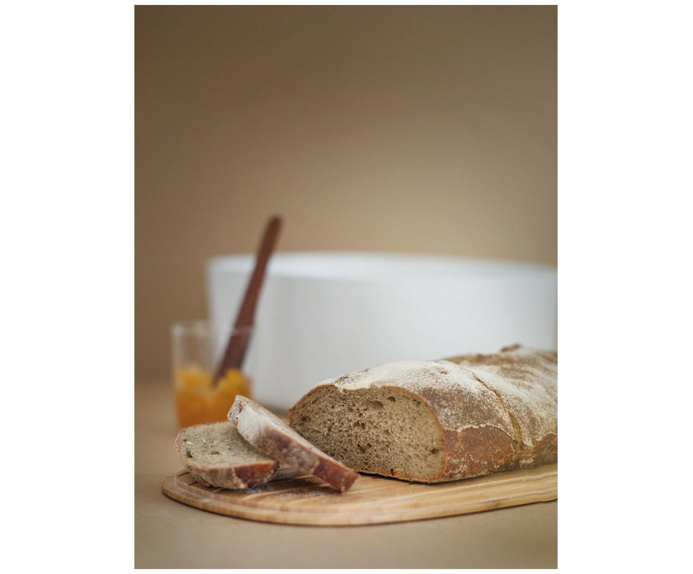 Chlebak Box-It, Melamina, drewno bambusowe, Pojemnik: biały<br>Pokrywka: brązowy, 35 x 12 cm
