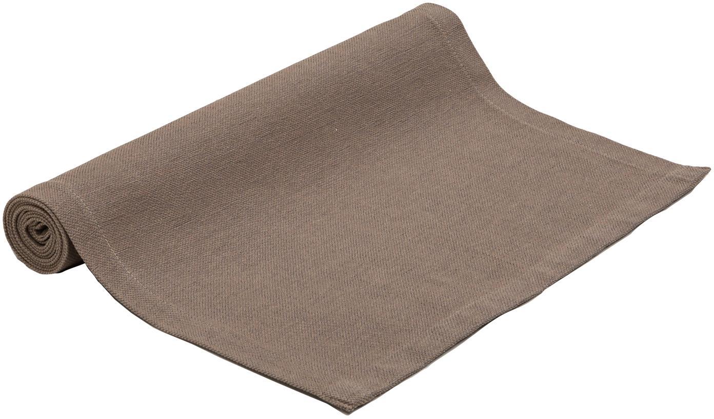 Tischläufer Riva, 55%Baumwolle, 45%Polyester, Taupe, 40 x 150 cm