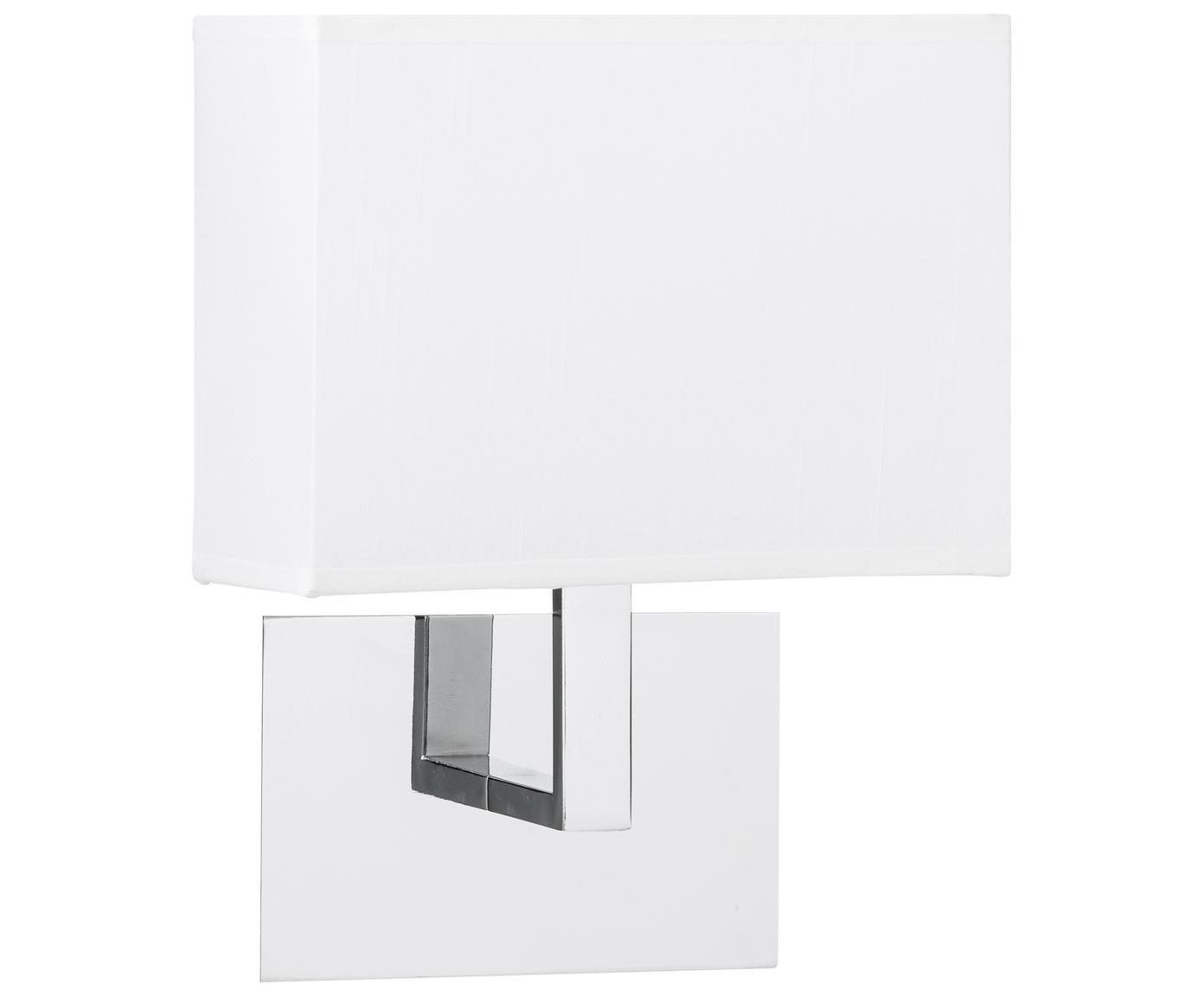 Wandleuchte Lina, Metall, Textil, Weiß, 20 x 25 cm