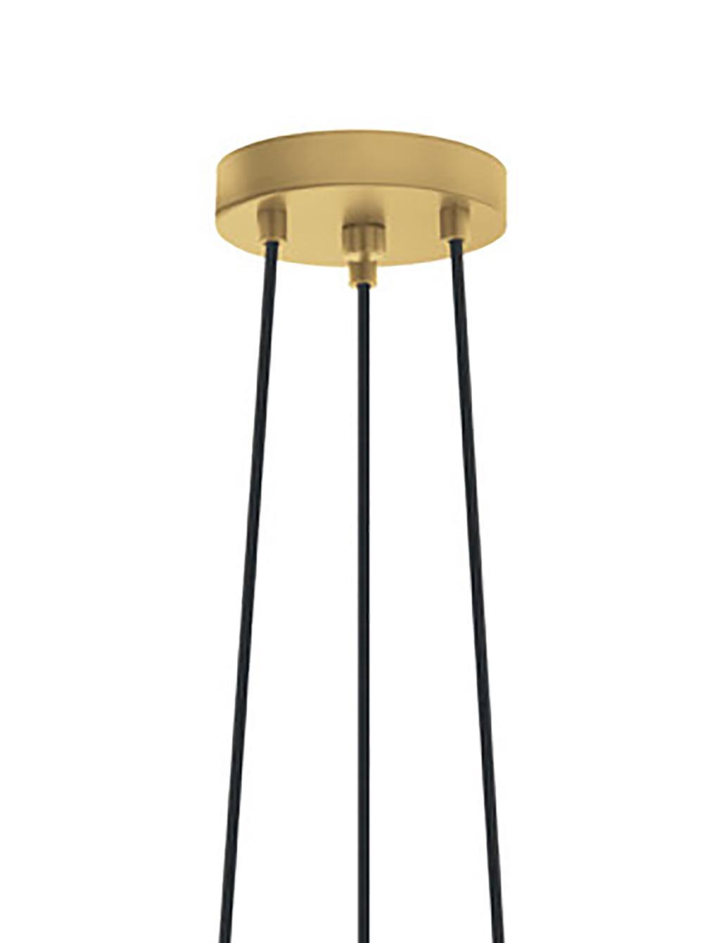 Pendelleuchte Kyle, Baldachin: Metall, gebürstet, Goldfarben, Ø 36 cm