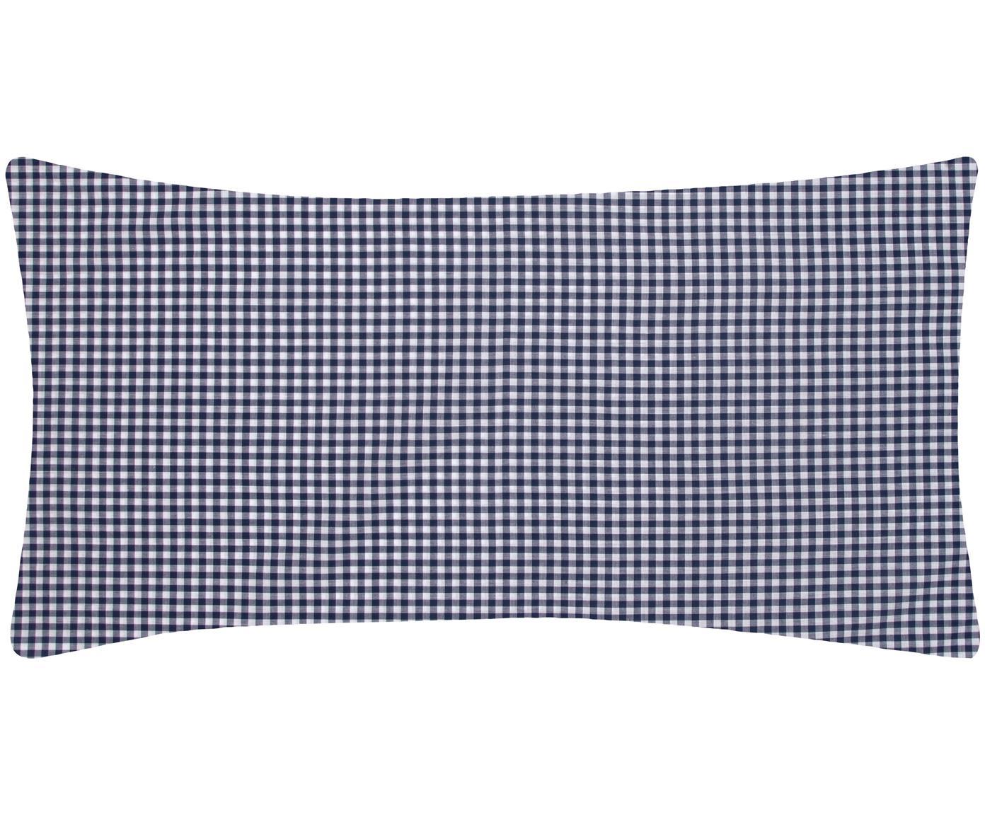 Funda de almohada de algodón Scotty, Algodón, Azul, blanco, An 45 x L 85 cm